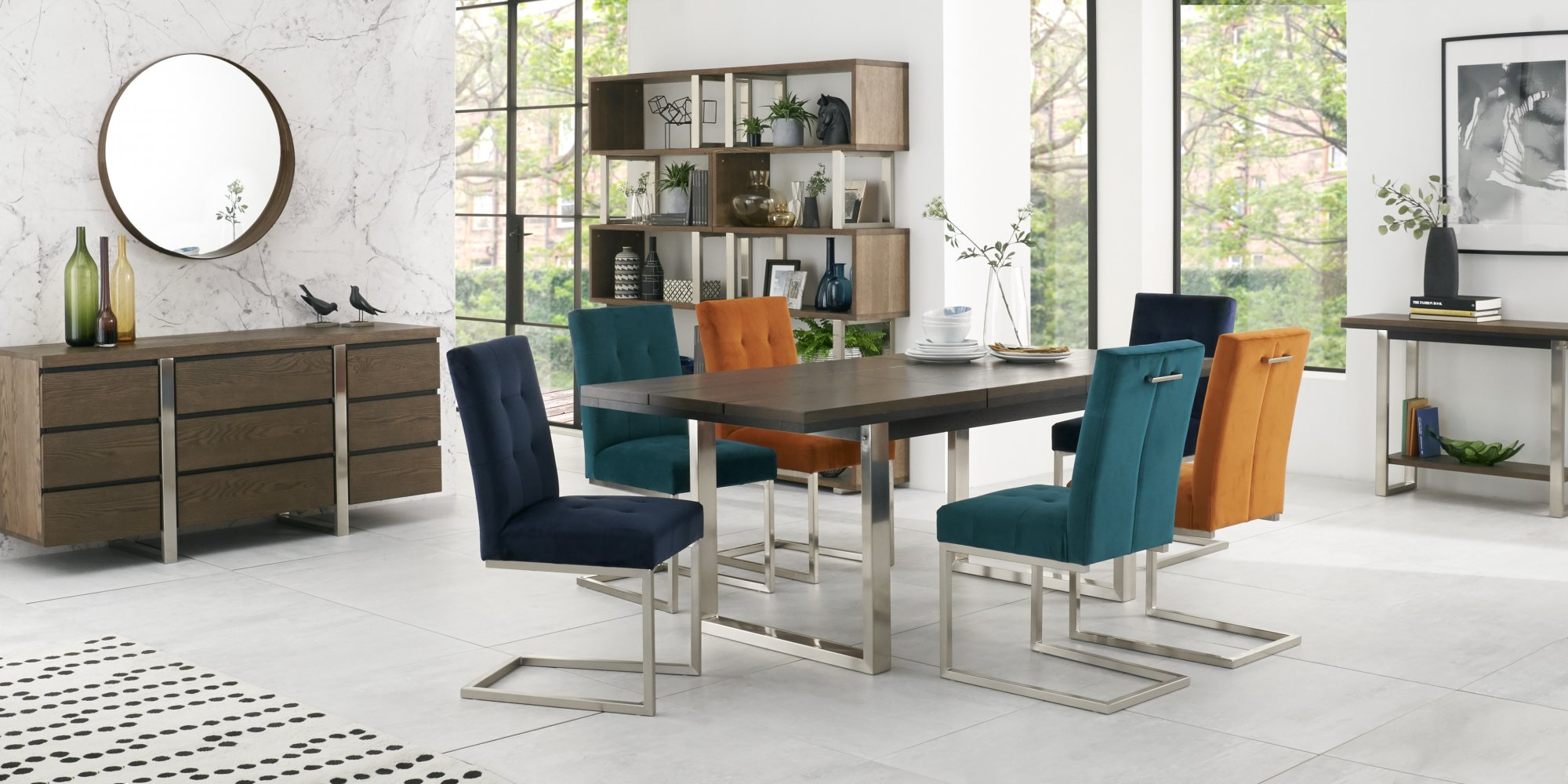 BRINDISI DINING SET MULTI COLOUR CHAIRS