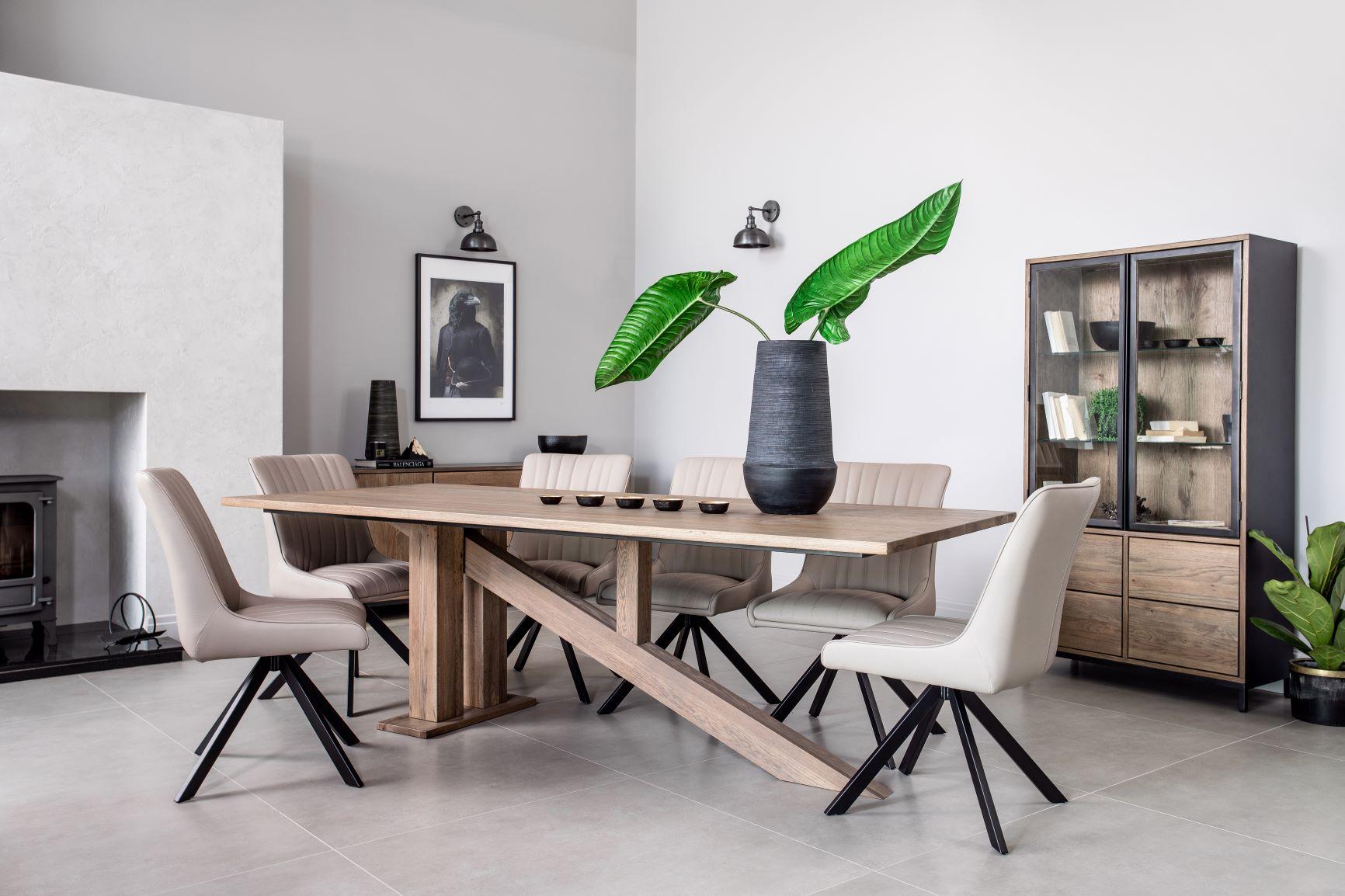 CARTER LARGE DINING TABLE - L240cm x D100cm x H77cm