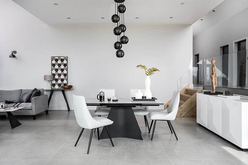 HAMMERSMITH DINING TABLE WITH JENNY CHAIR - L160cm EXTENDING TO L240cm