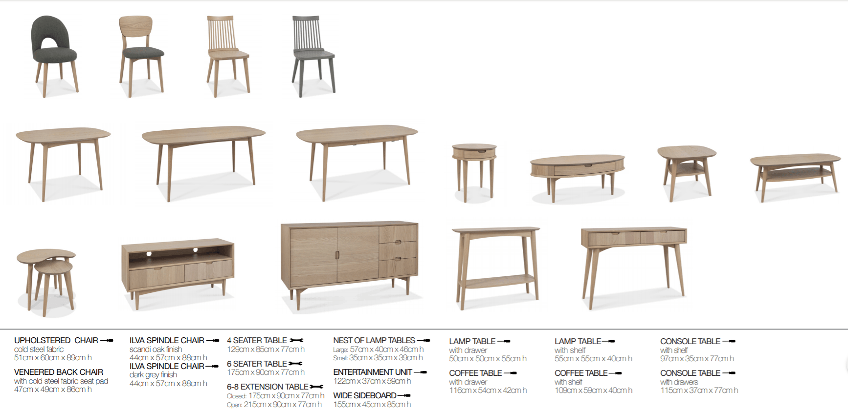 RETRO OAK SPEC SHEET