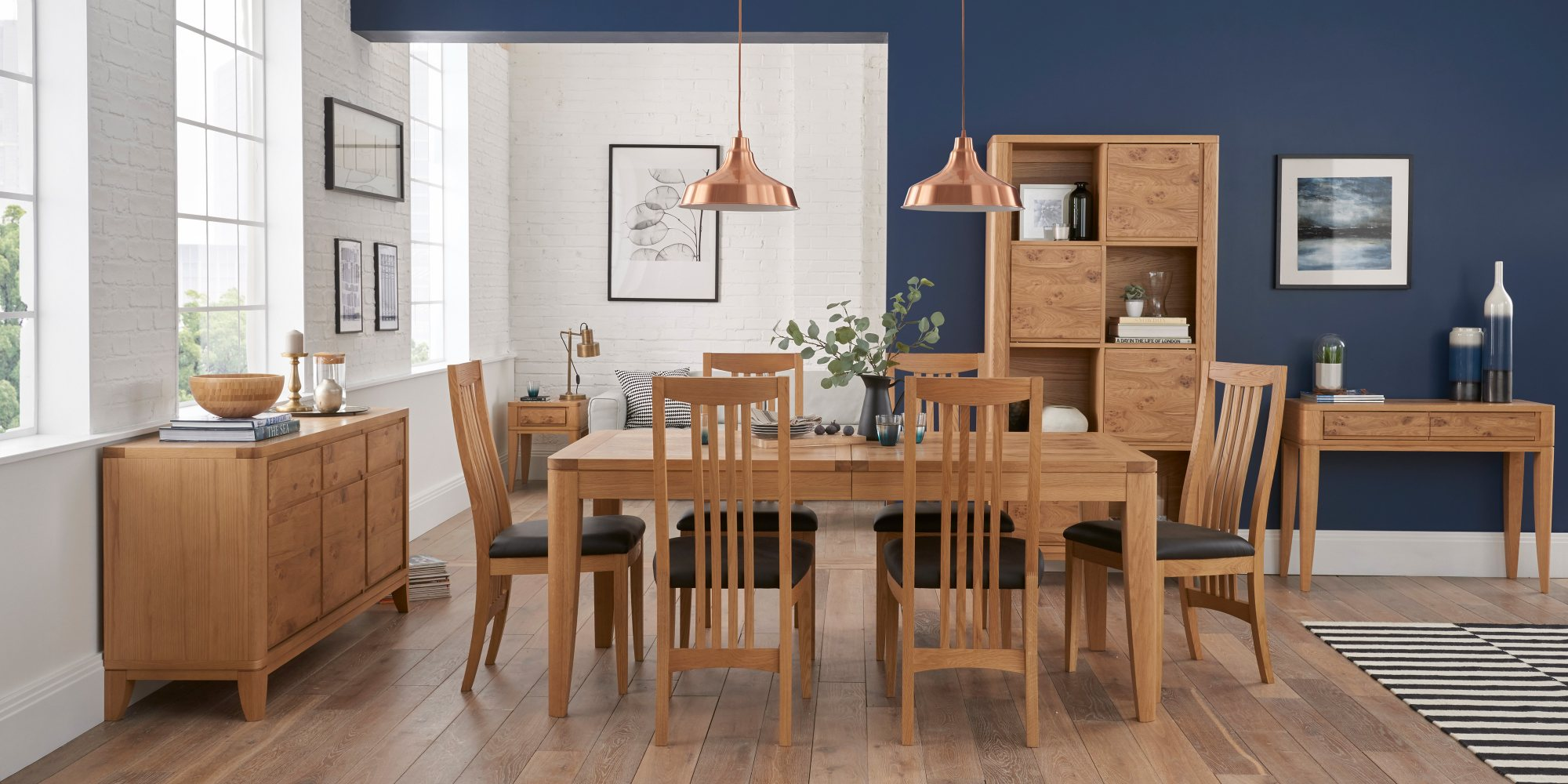 WILLOW PARK DINING SET WITH WOODEN CHAIR L180cm EXTENDING TO L230cm