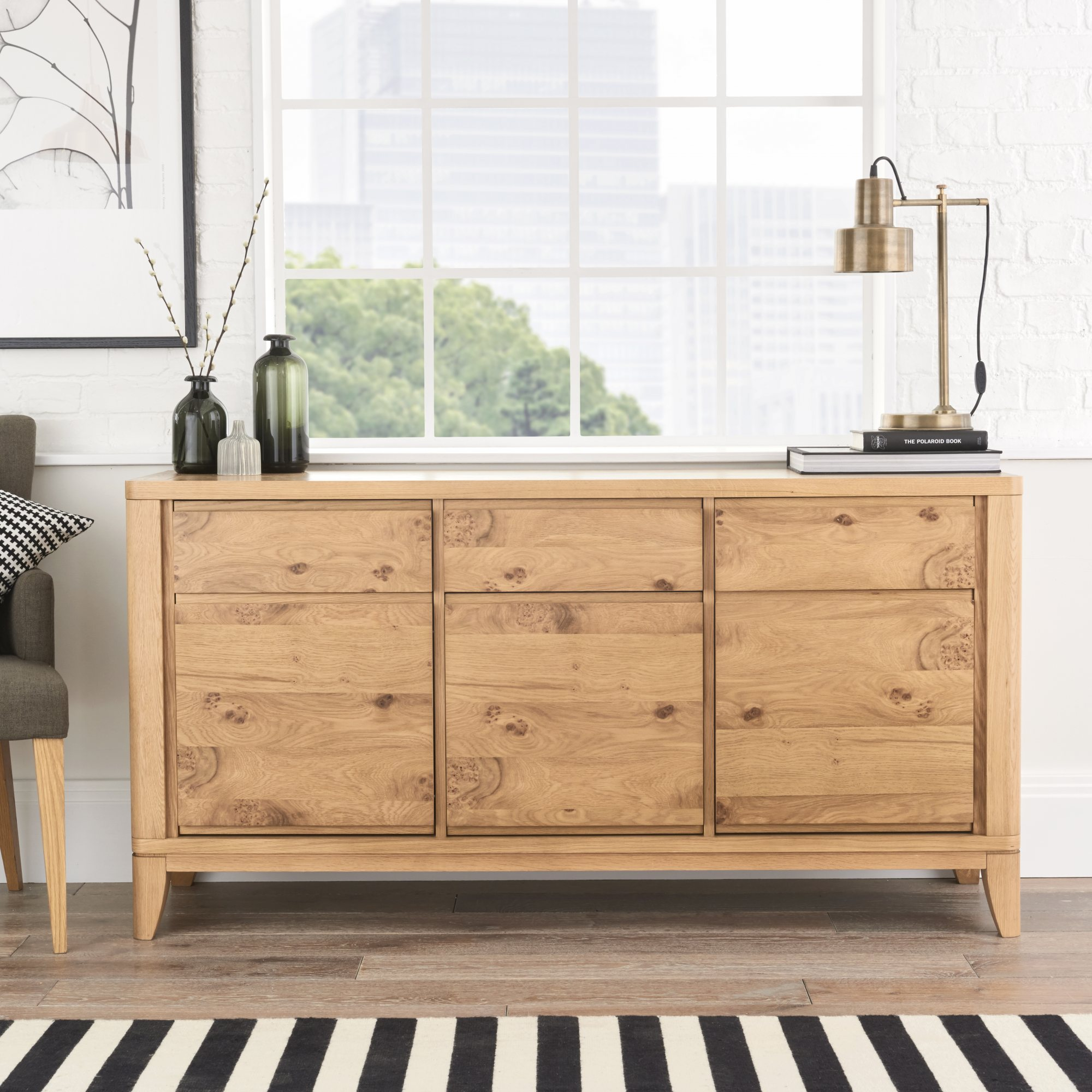 WILLOW PARK WIDE SIDEBOARD - L155cm x D45cm x H80cm