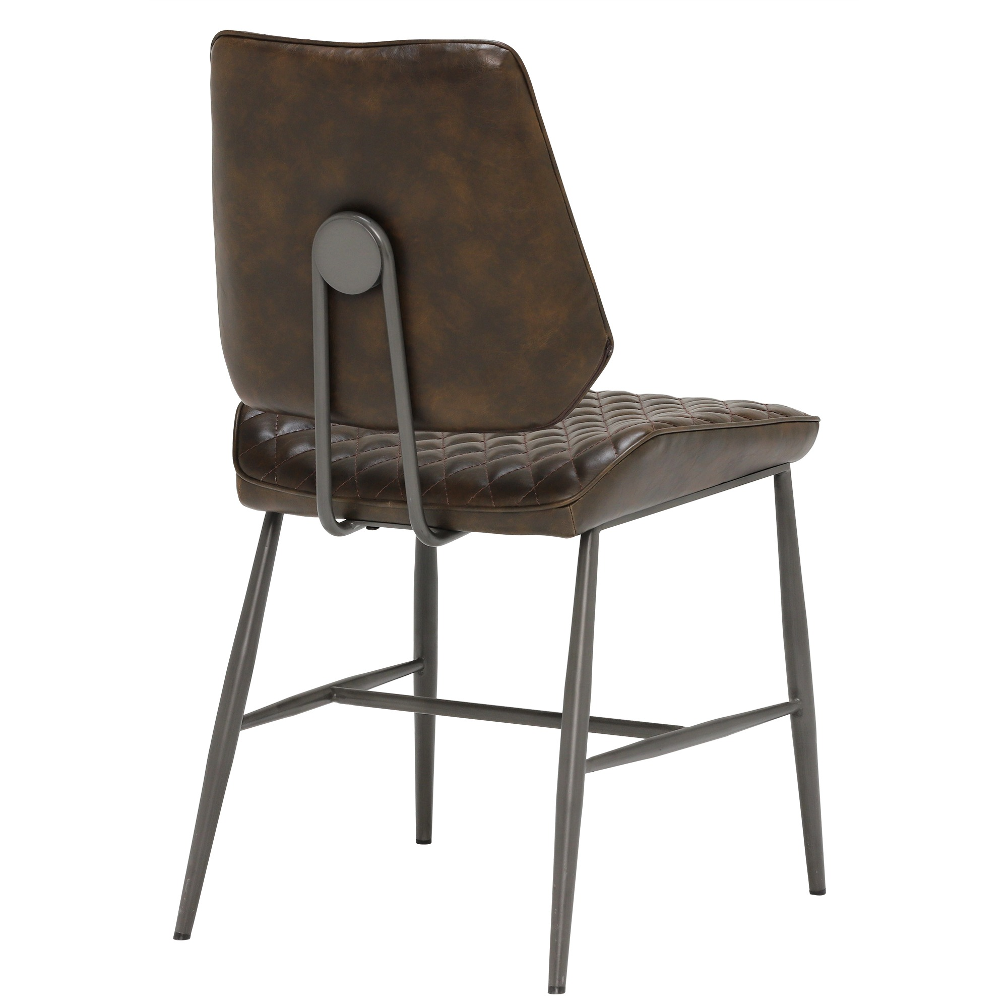 NEMOX BROWN DINING CHAIR -BACK DETAIL