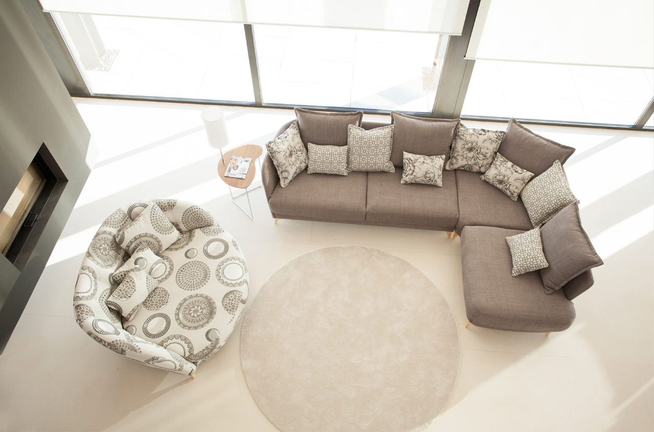NADINE CHAISE END CORNER SOFA