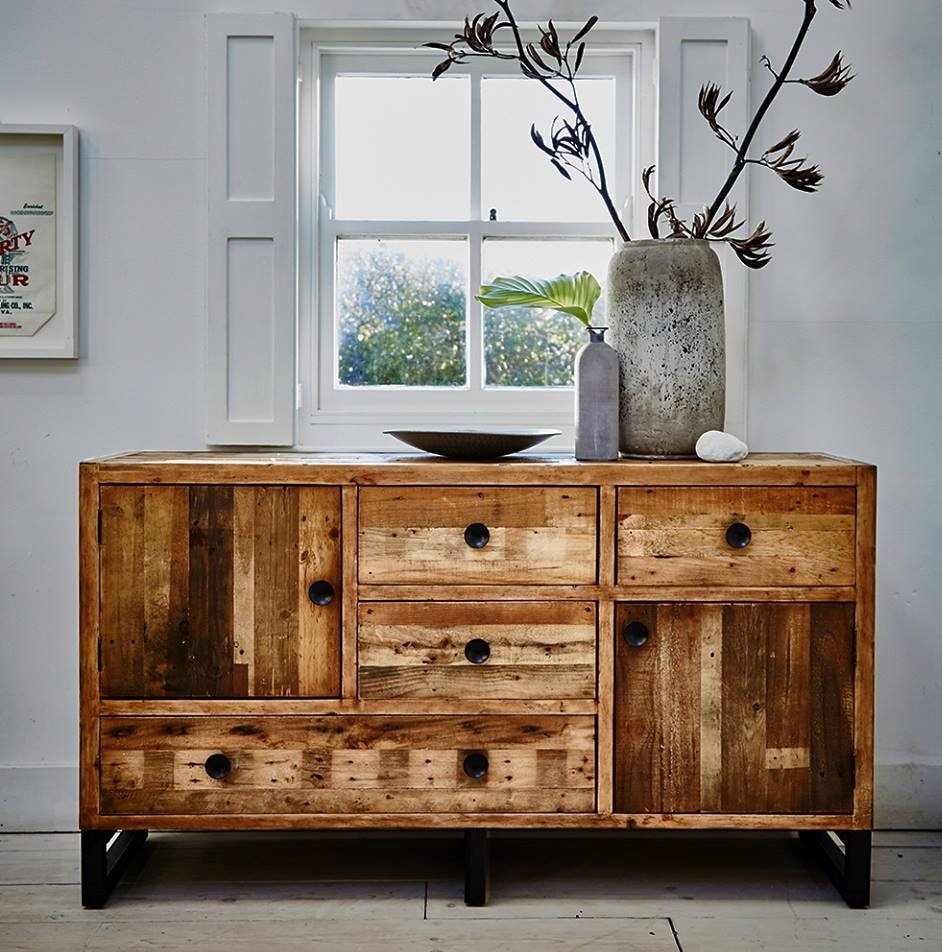 ARIZONA WIDE SIDEBOARD - - L152cm x D45cm x H85cm