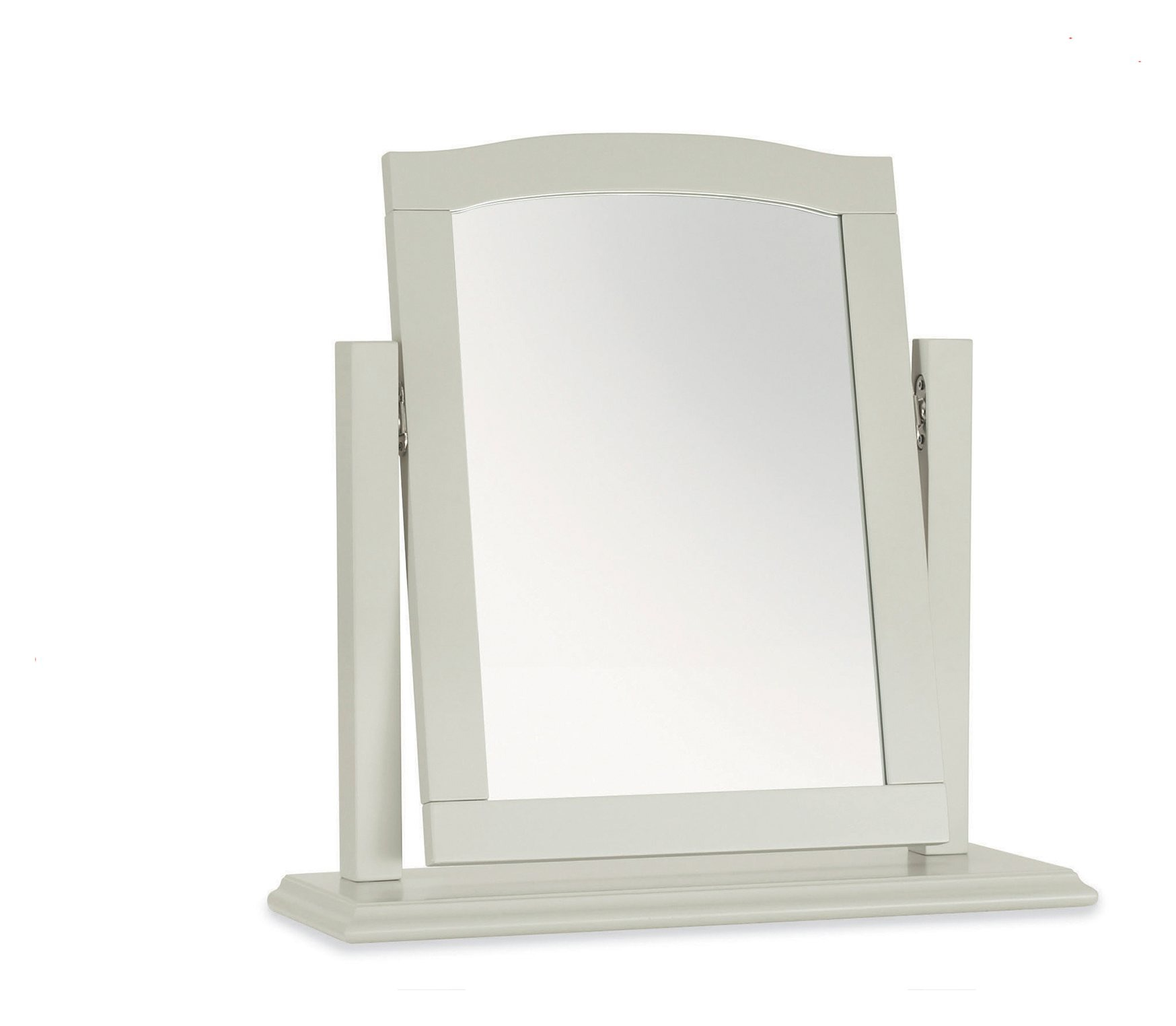 ASHLEY GREY BEDROOM MIRROR - L52cm x D18cm x H53cm. ANGLE VIEW