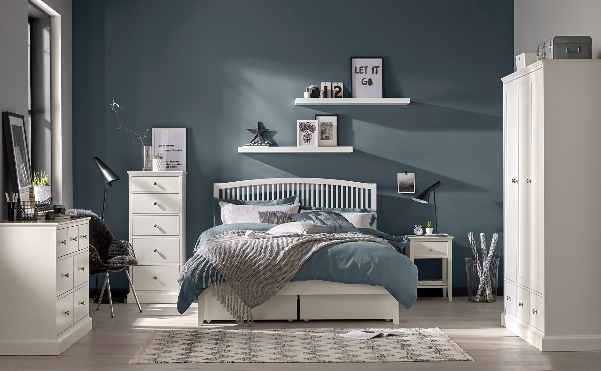 ASHLEY (GREY or WHITE) ROOM SETTING
