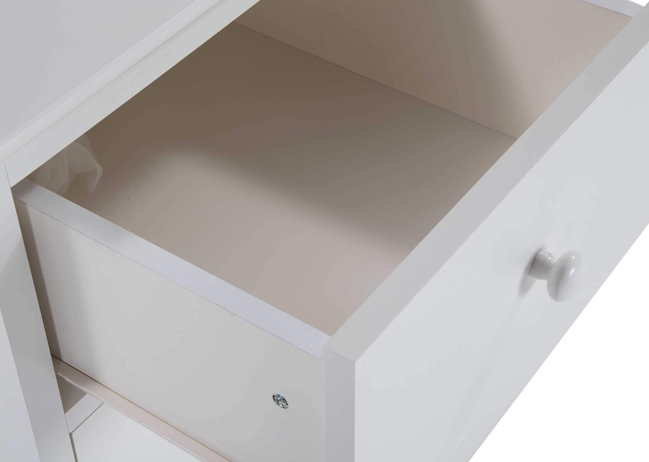 ASHLEY (GREY or WHITE) SMALL CHEST - DRAWER RUNNER DETAIL
