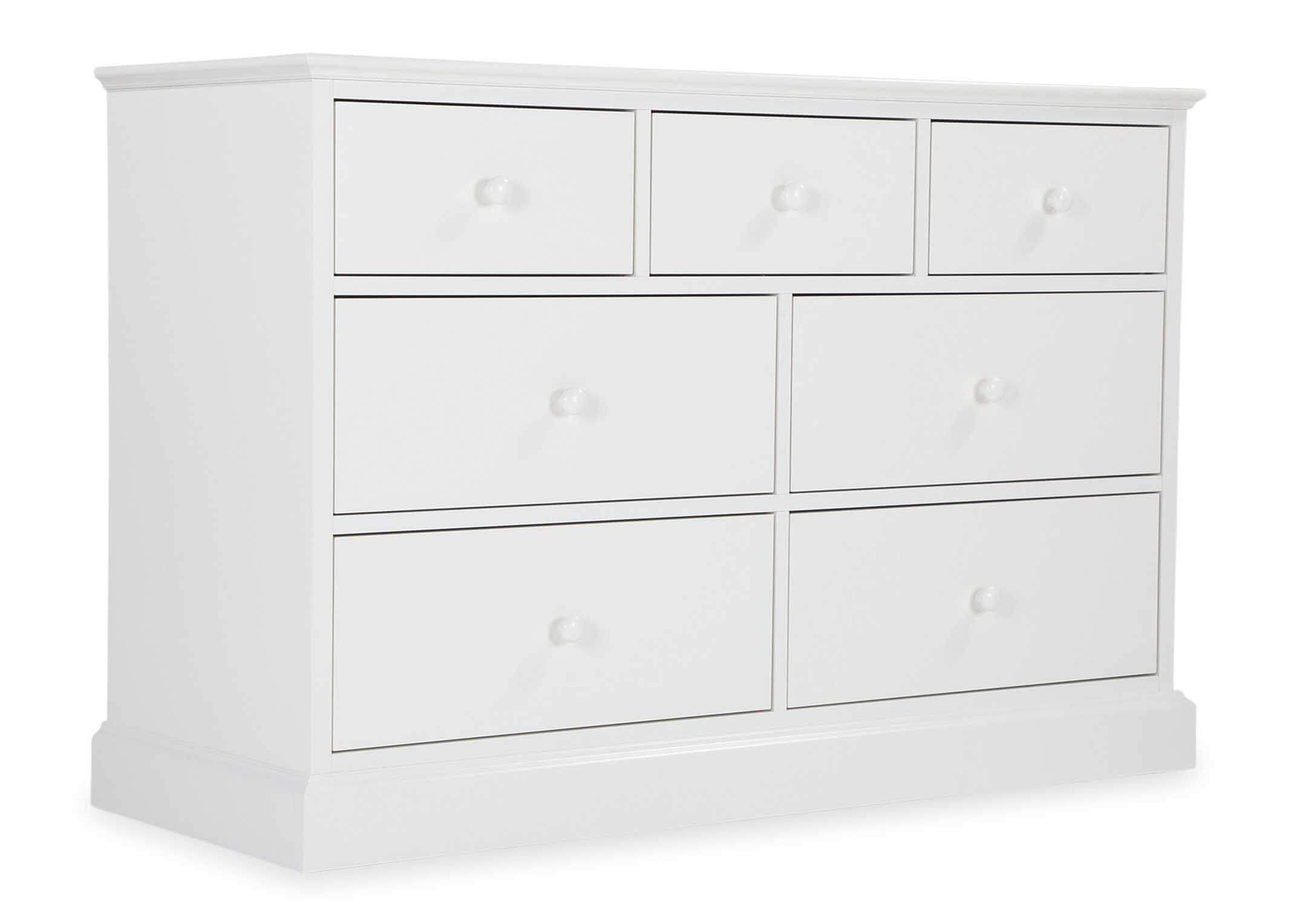 ASHLEY (GREY or WHITE) WIDE CHEST - ANGLE DETAIL
