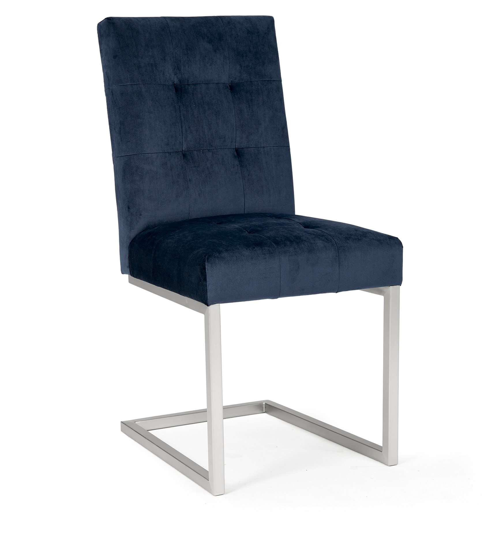 BRINDISI BLUE DINING CHAIR - FRONT DETAIL