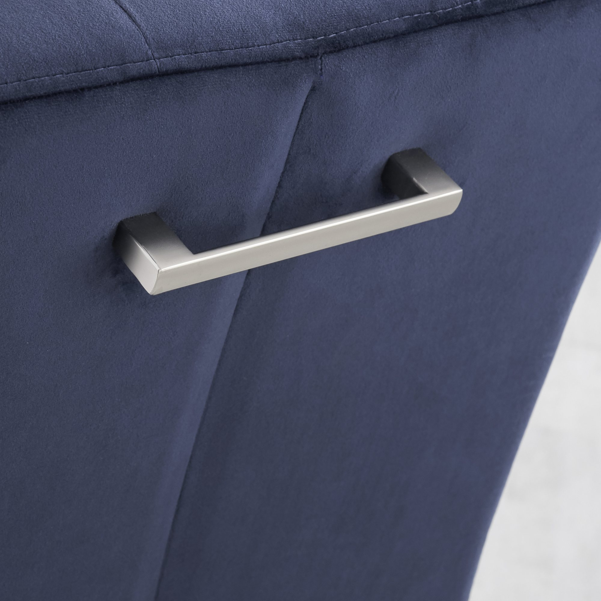 BRINDISI BLUE DINING CHAIR - HANDLE DETAIL
