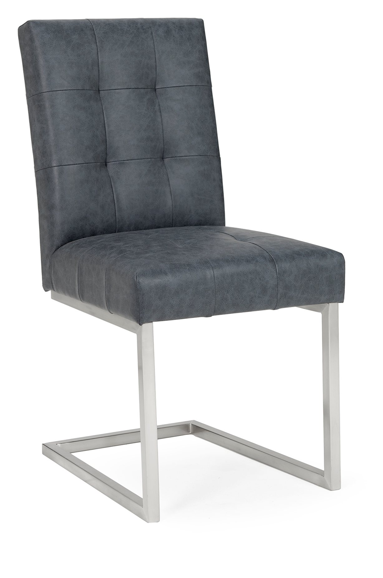 BRINDISI BONDED LEATHER DINING CHAIR - ANGLE DETAIL