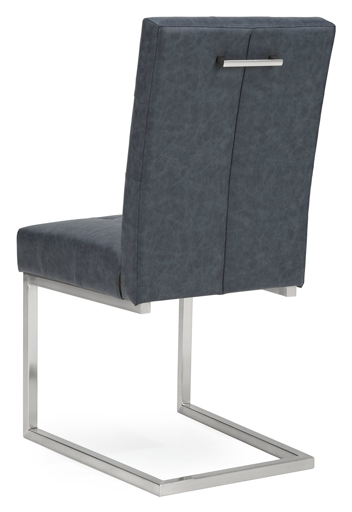 BRINDISI BONDED LEATHER DINING CHAIR - BACK DETAIL