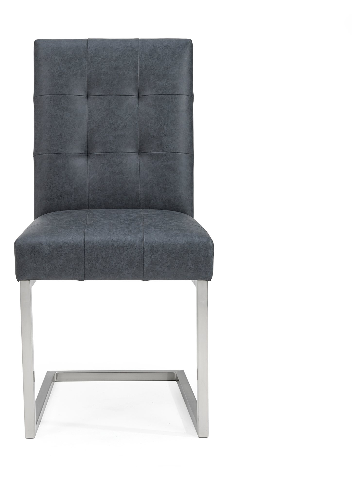 BRINDISI BONDED LEATHER DINING CHAIR - FRONT DETAIL