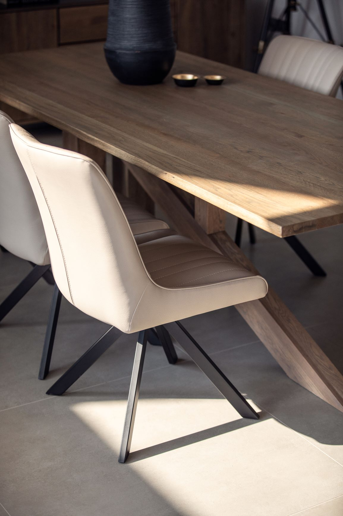 CAMMIE DINING CHAIR TAUPE