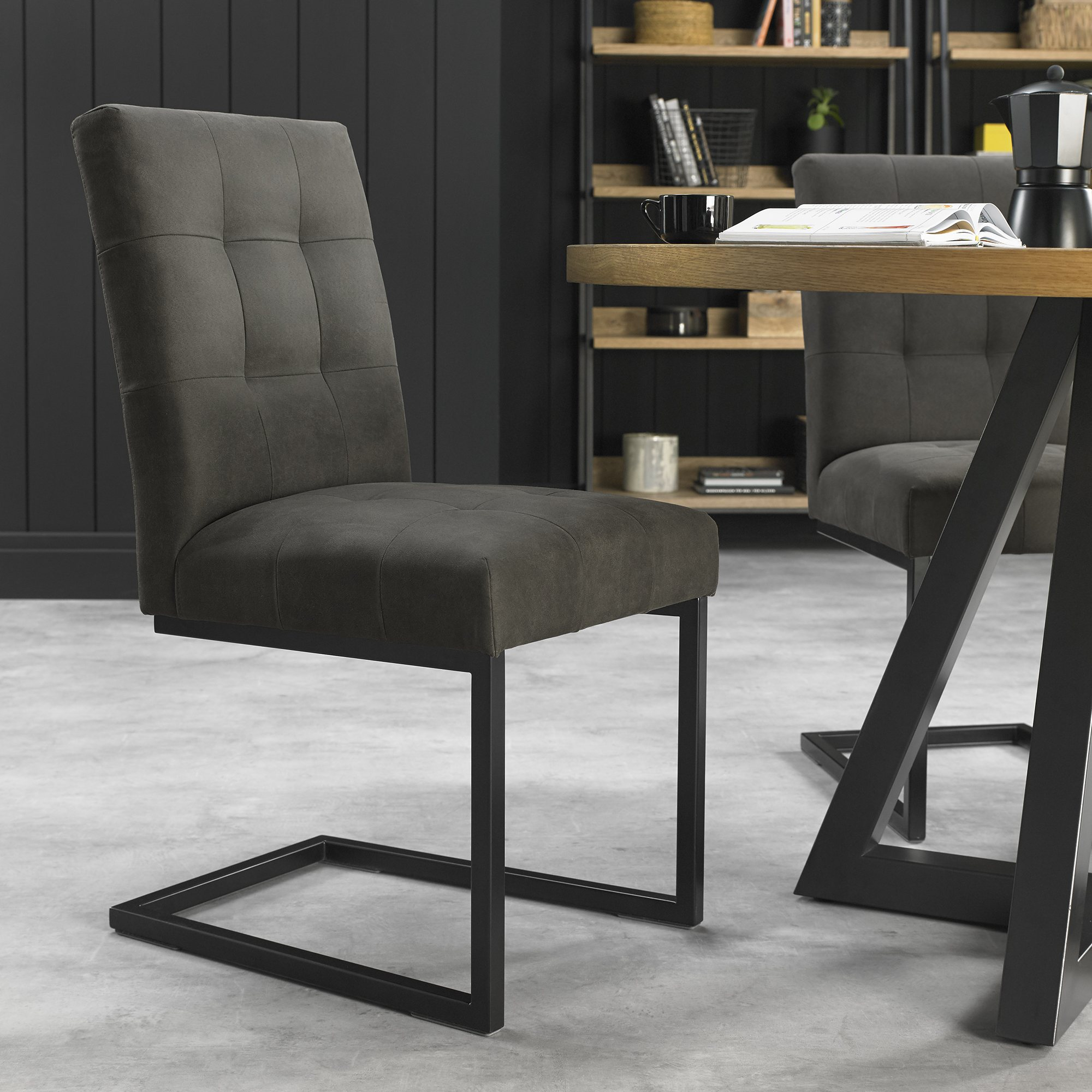 CANTER GREY DINING CHAIR– L54.5cm x D60cm x H85.5cm