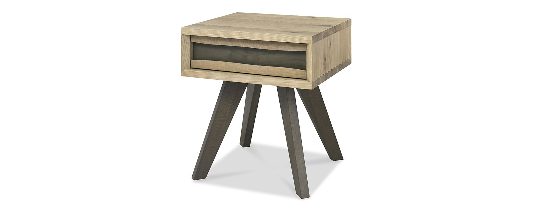 CARELL LAMP TABLE WITH DRAWER - L50cm x D46cm xH55cm - ANGLE DETAIL