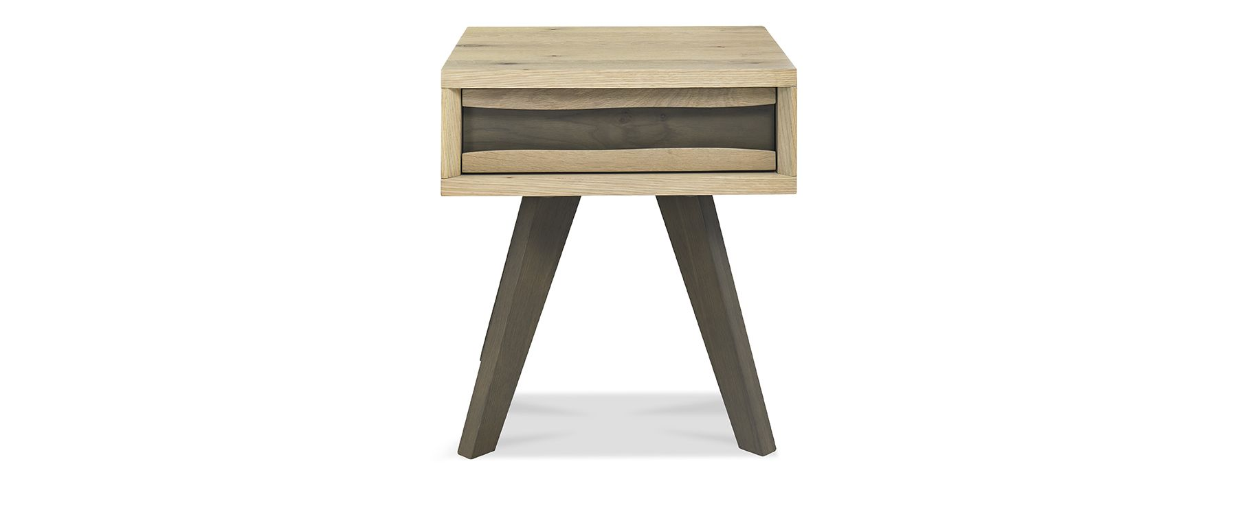 CARELL LAMP TABLE WITH DRAWER - L50cm x D46cm xH55cm - FRONT DETAIL