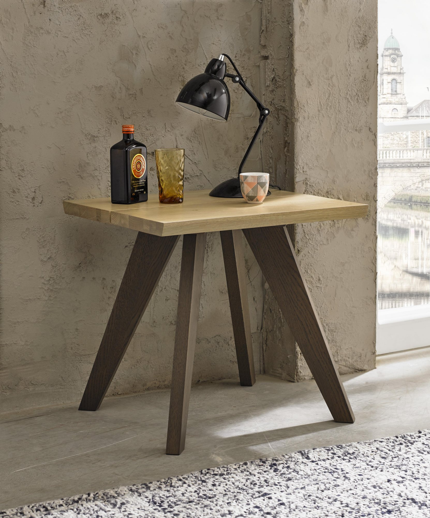 CARELL LAMP TABLE- L55cm x D50cm x H52cm