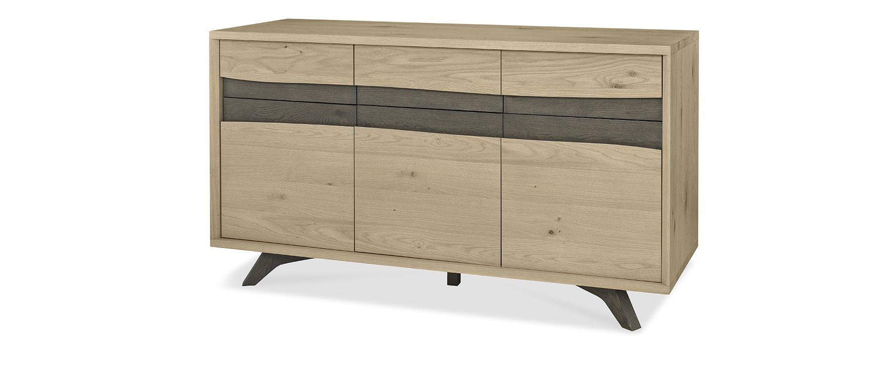 CARELL WIDE SIDEBOARD L150cm x D49cm xH82cm - ANGLE DETAIL