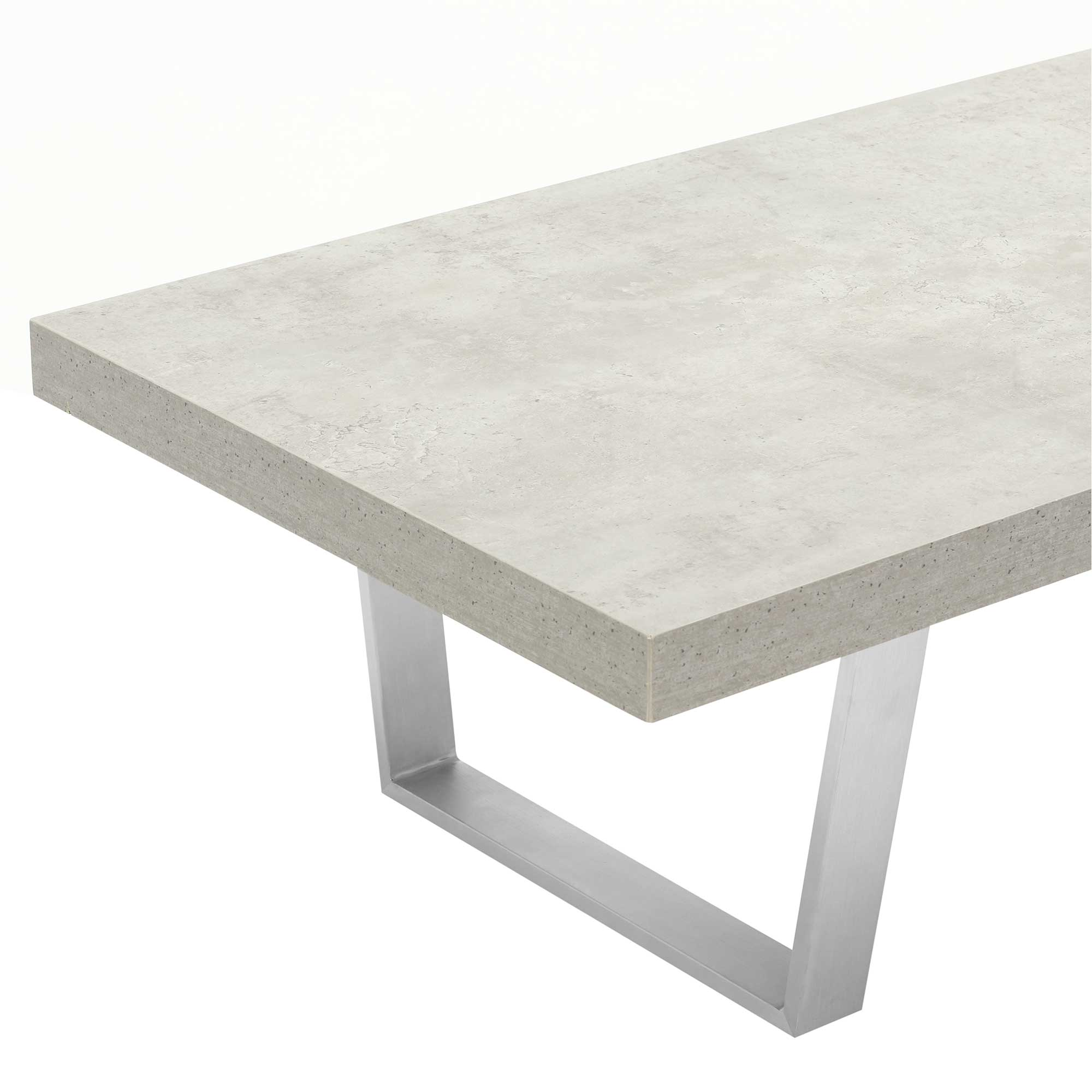 CONCRETE LOOK COFFEE TABLE - END DETAIL