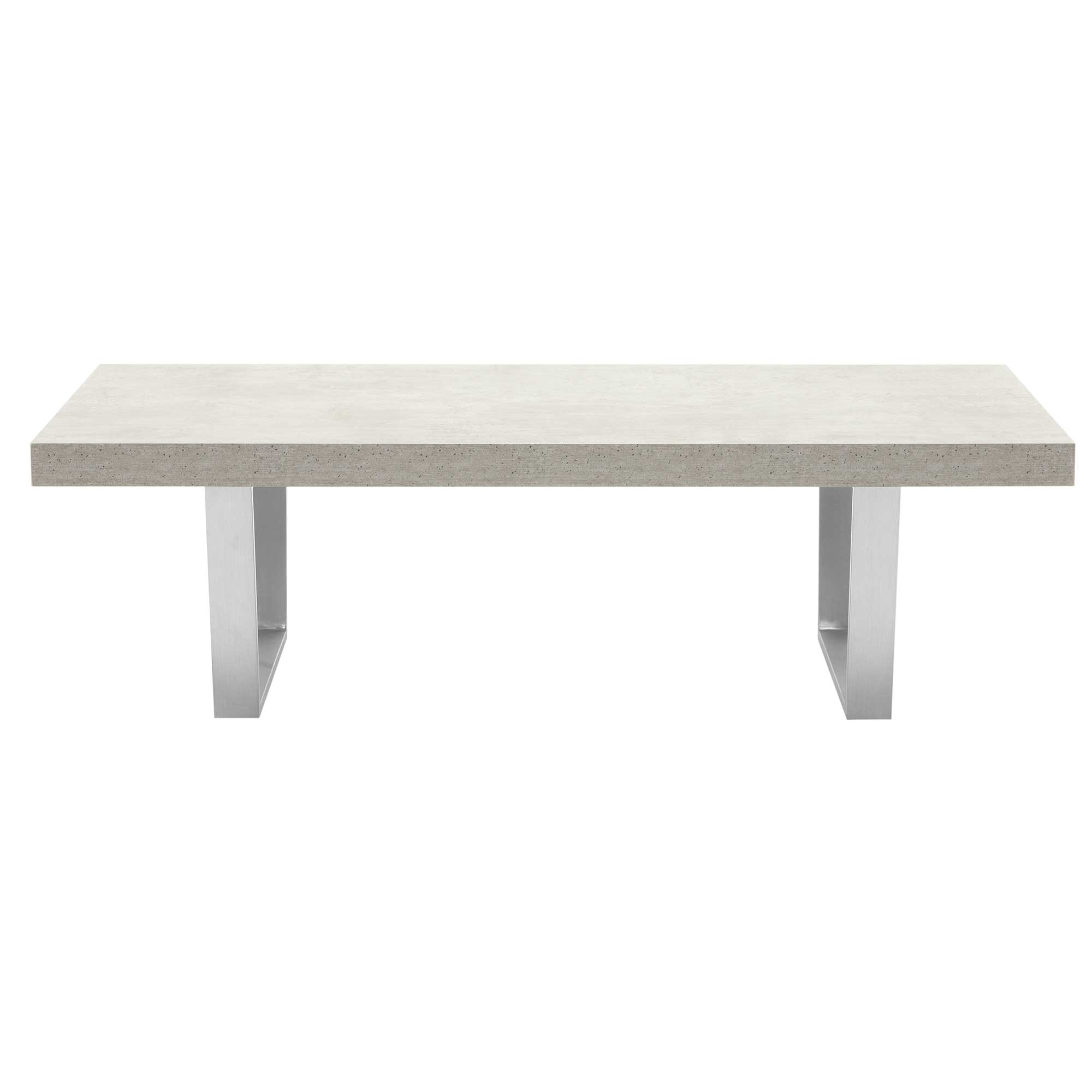 CONCRETE LOOK COFFEE TABLE - FRONT DETAIL