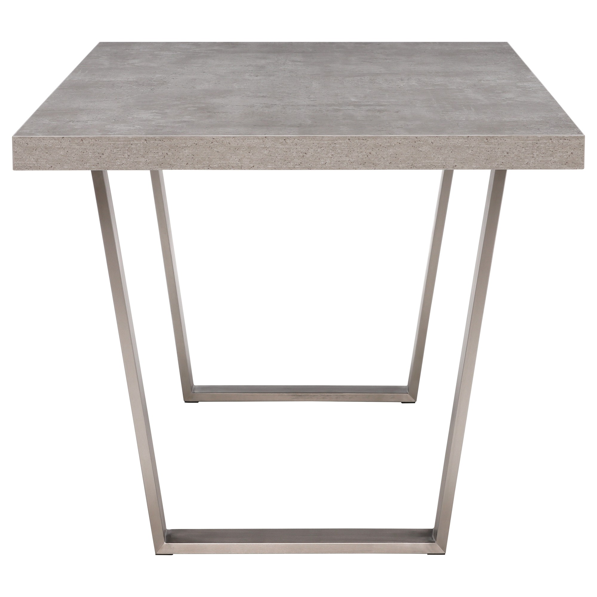 CONCRETE LOOK DINING TABLE - SIDE VIEW