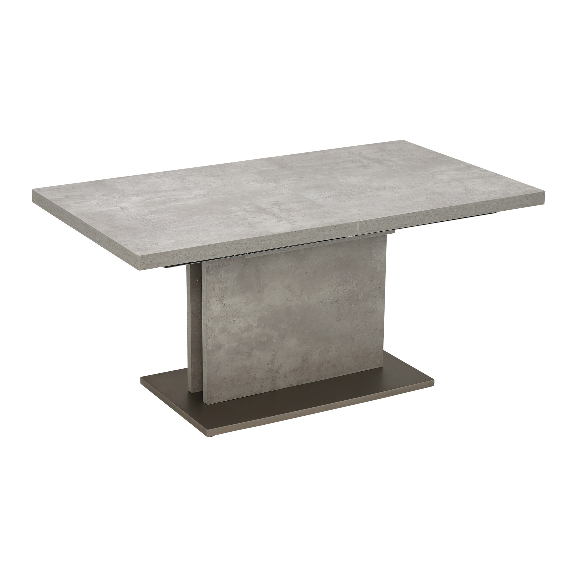CONCRETE LOOK EXTENDING TABLE - CLOSED - L160cm x D90cm x H76cm.
