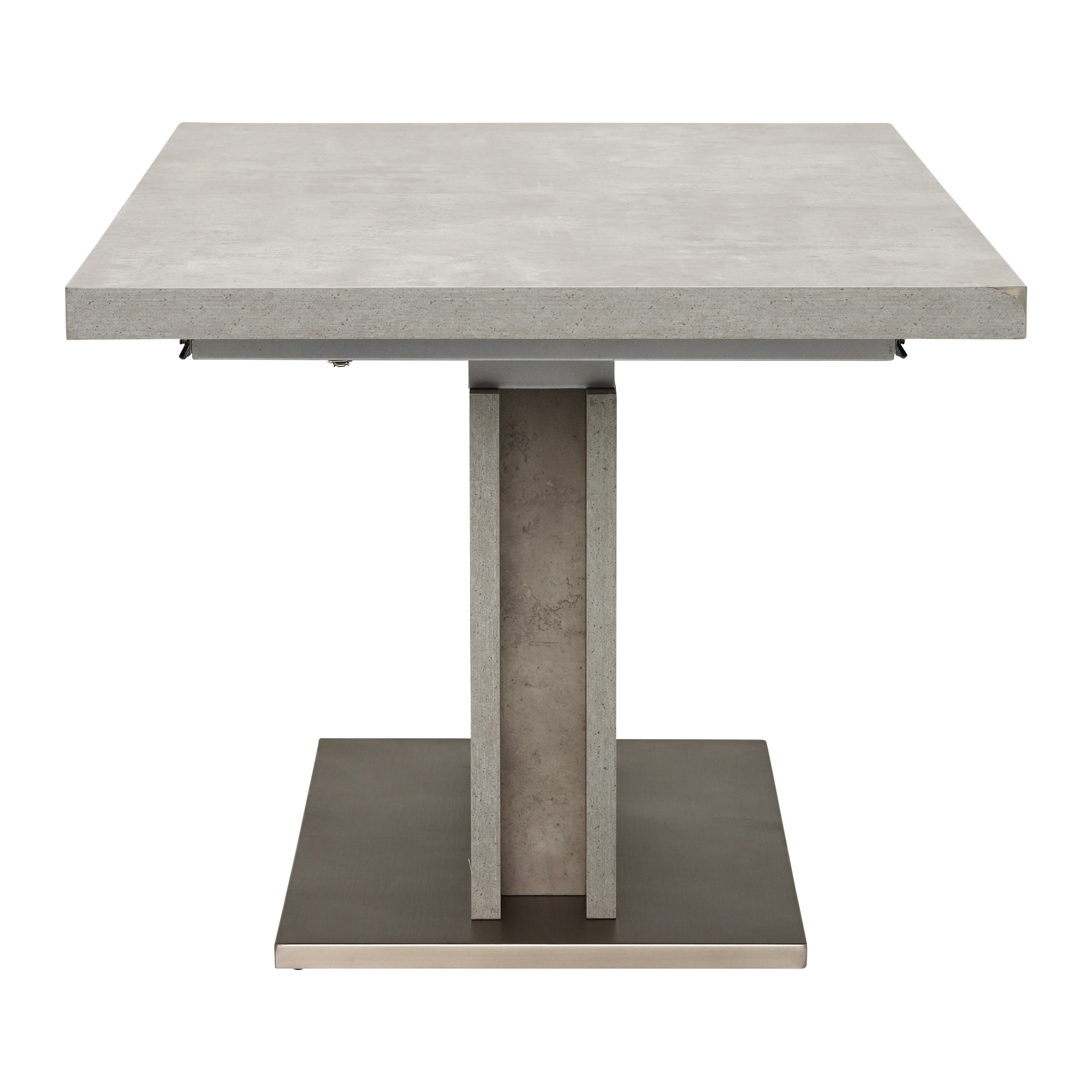CONCRETE LOOK EXTENDING TABLE - END DETAIL
