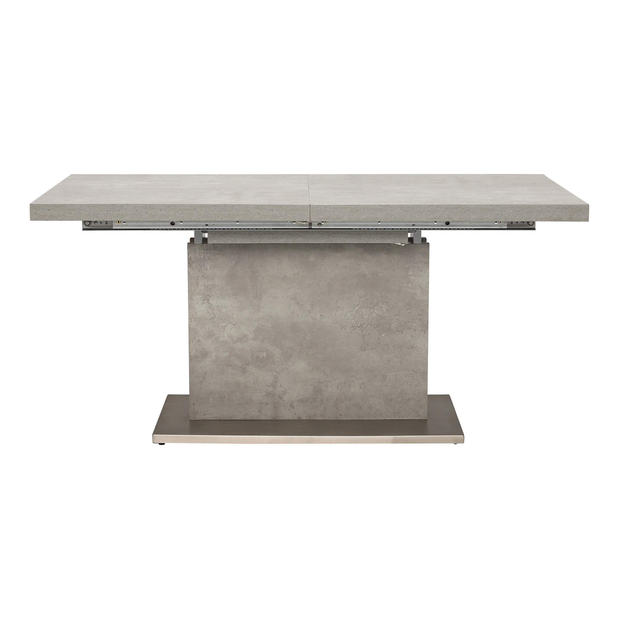 CONCRETE LOOK EXTENDING TABLE - FRONT DETAIL