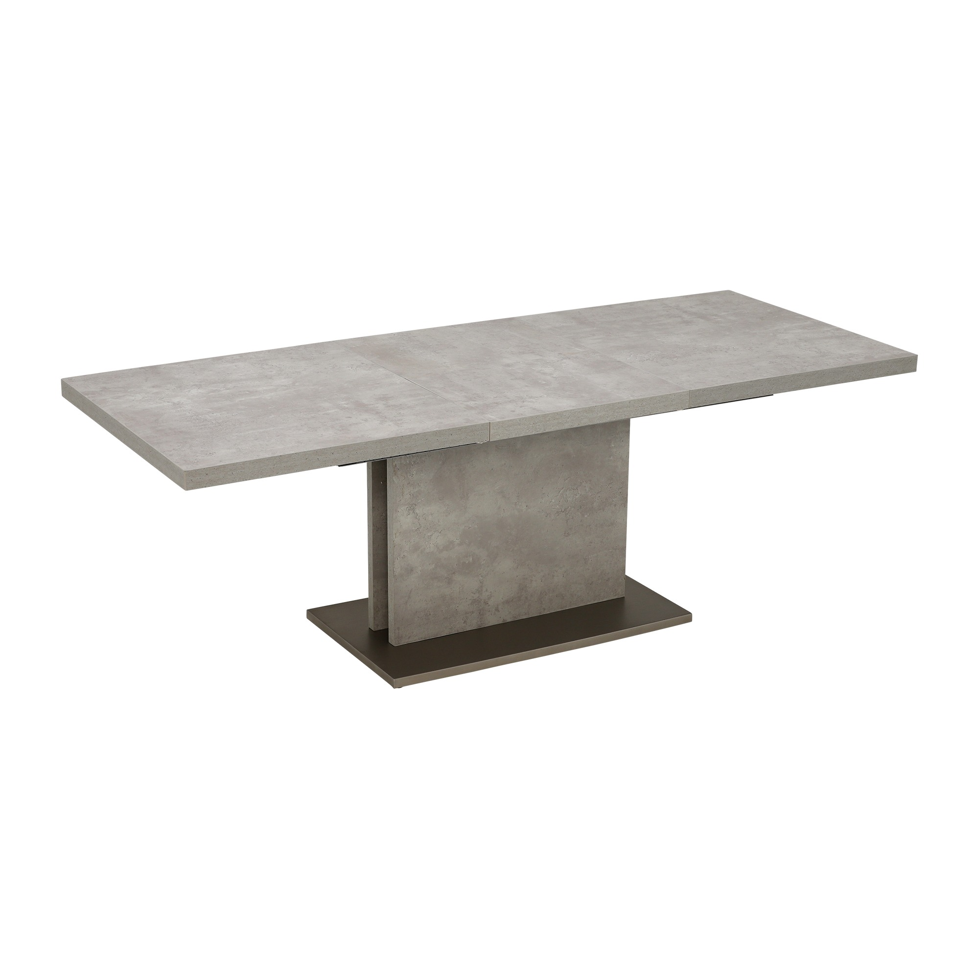 CONCRETE LOOK EXTENDING TABLE - OPENED - L220cm x D90cm x H76cm