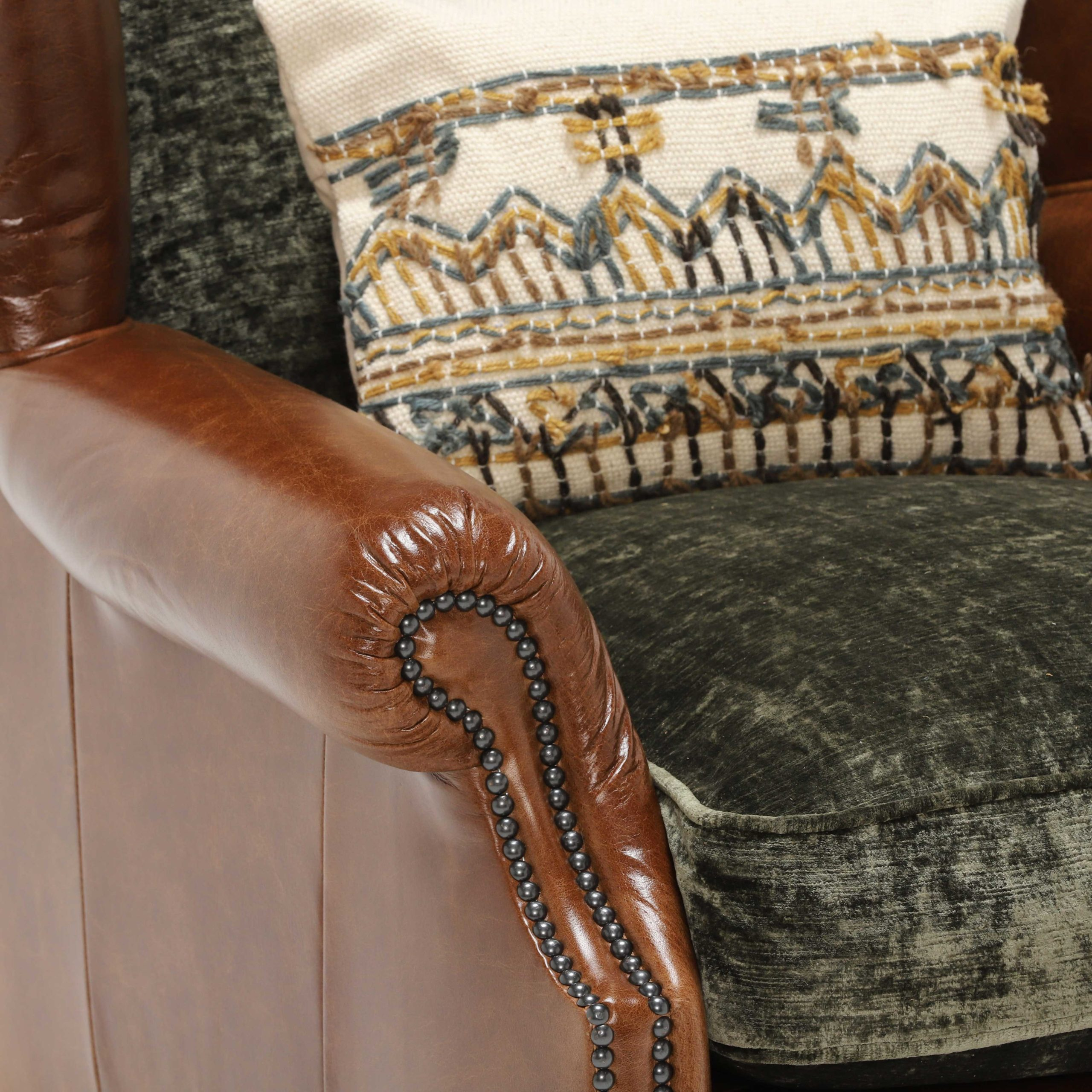 CONSTABLE WING CHAIR - ARM DETAIL