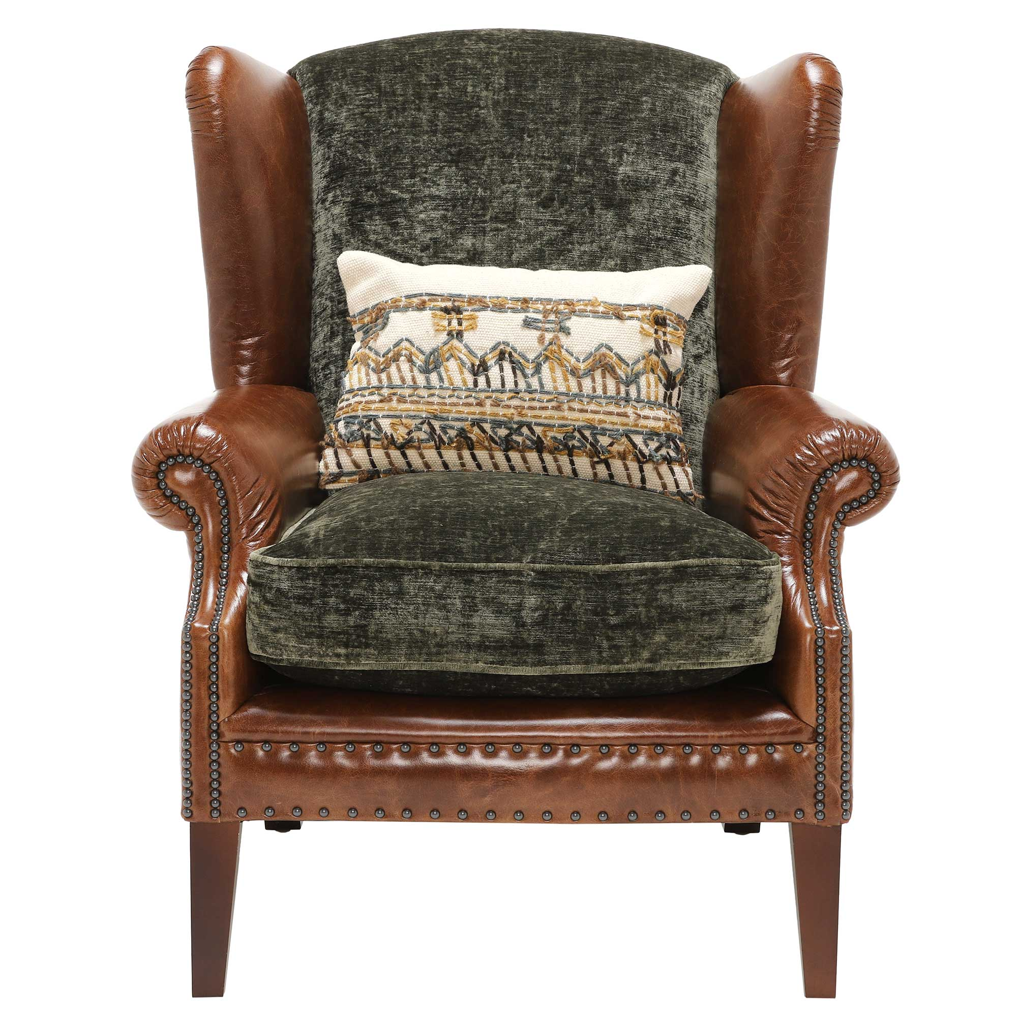 CONSTABLE WING CHAIR - FRONT DETAIL
