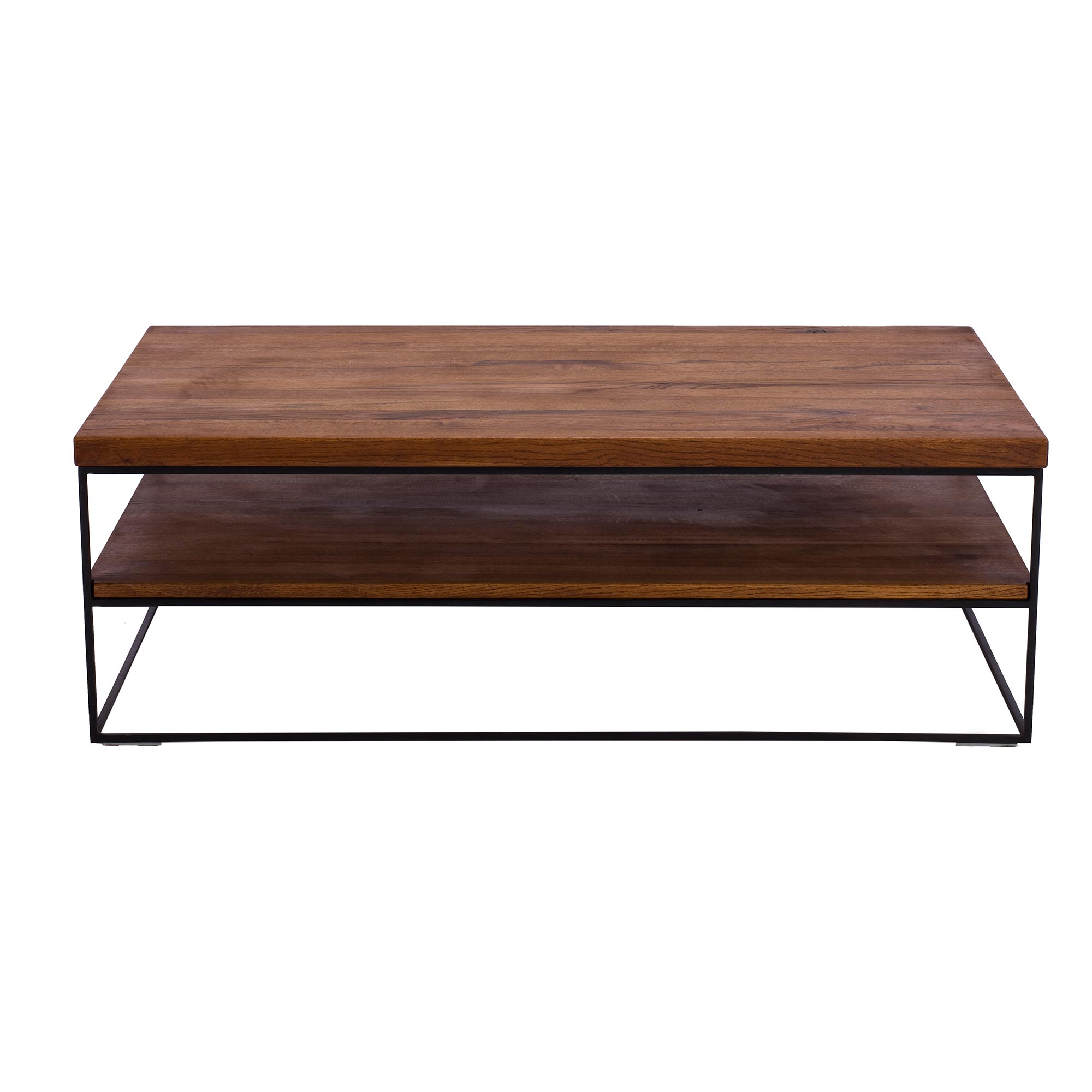CORMAR OILED OAK COFFEE TABLE - L120cm x D70cm x H40cm FRONT VIEW