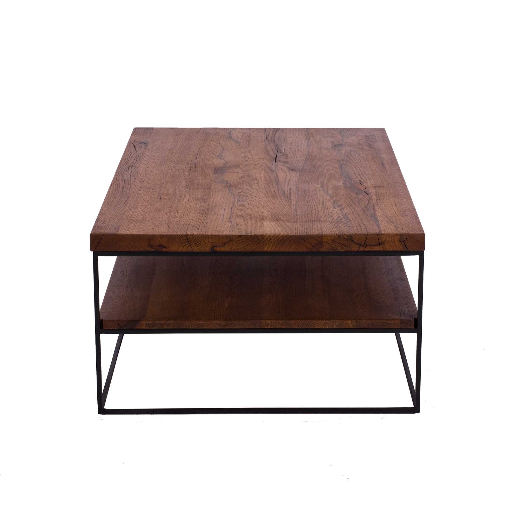 CORMAR OILED OAK COFFEE TABLE - L120cm x D70cm x H40cm SIDE VIEW