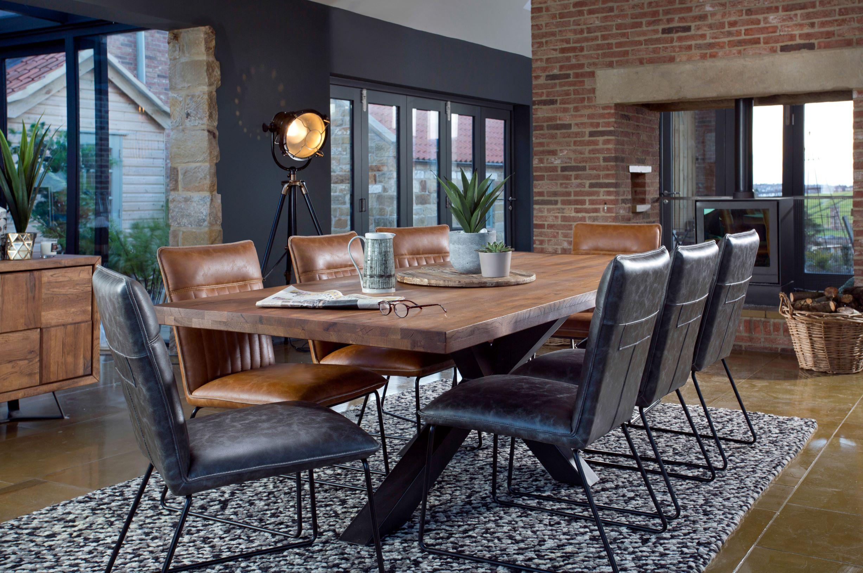 CORMAR OILED OAK LARGE DINING TABLE - L240cm x D100cm x H77cm.