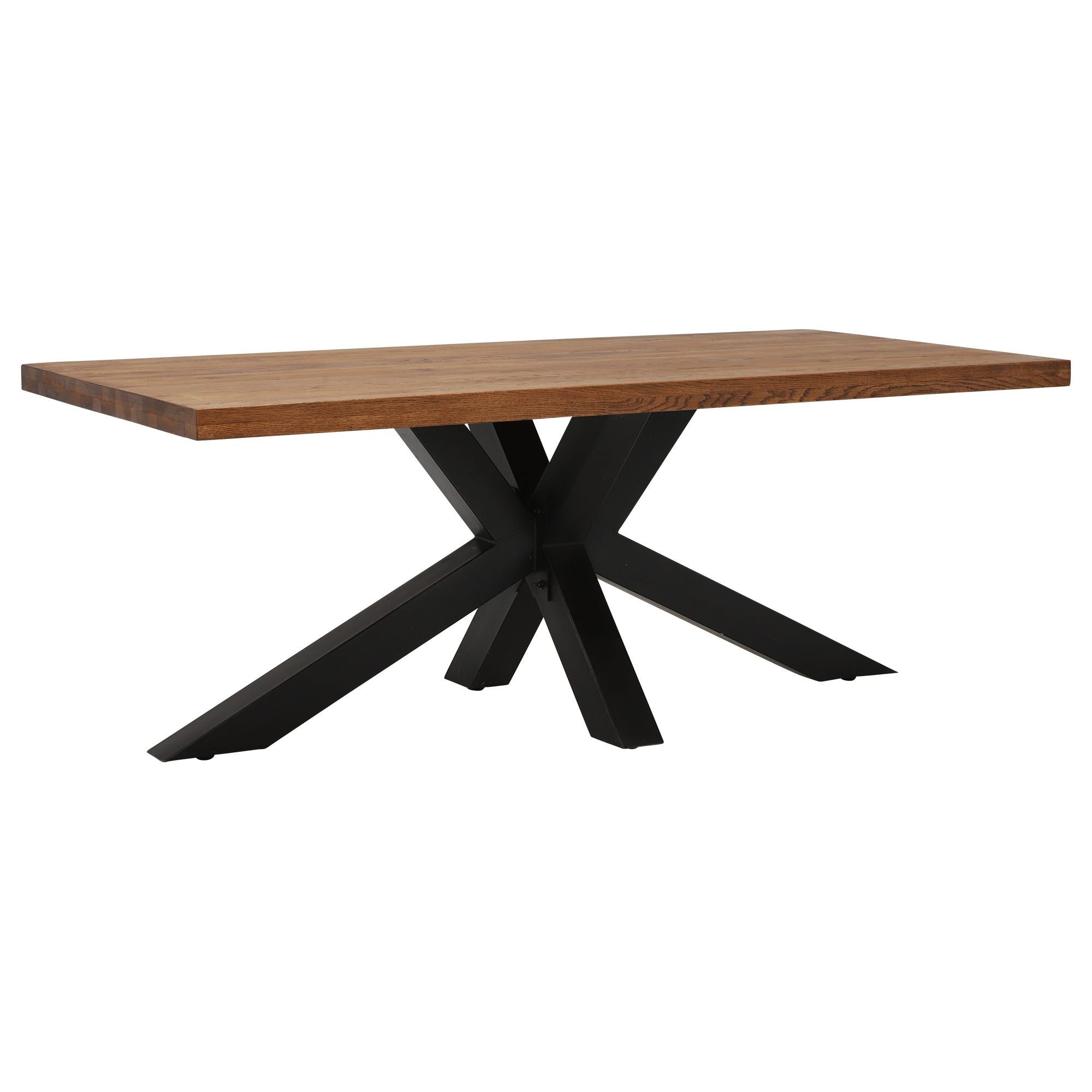 CORMAR OILED OAK LARGE DINING TABLE - L240cm x D100cm x H77cm