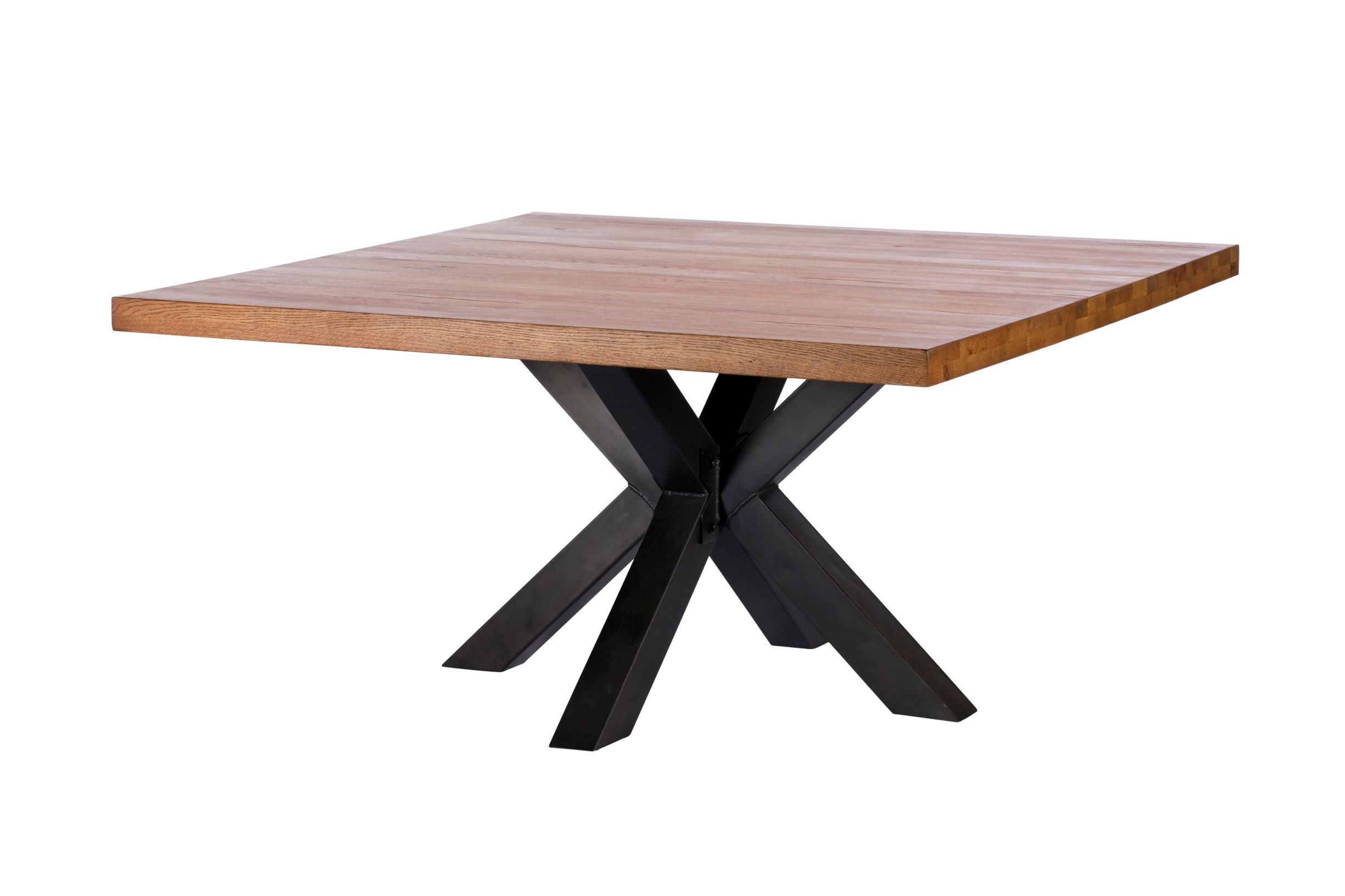 CORMAR OILED OAK SQUARE DINING TABLE - L150cm x D150cm x H77cm