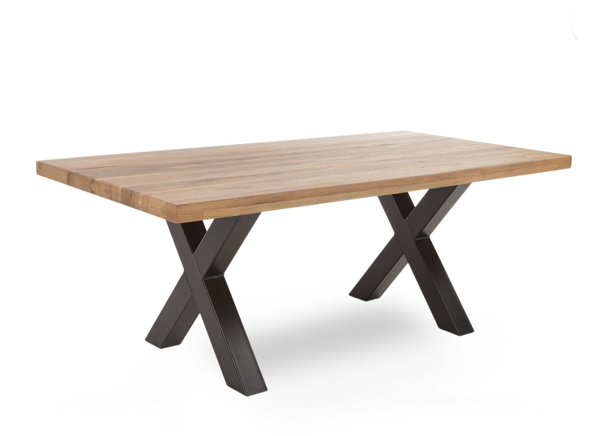 GENEVA LARGE DINING TABLE -L220cm x D100cm x H77cm. ANGLE VIEW