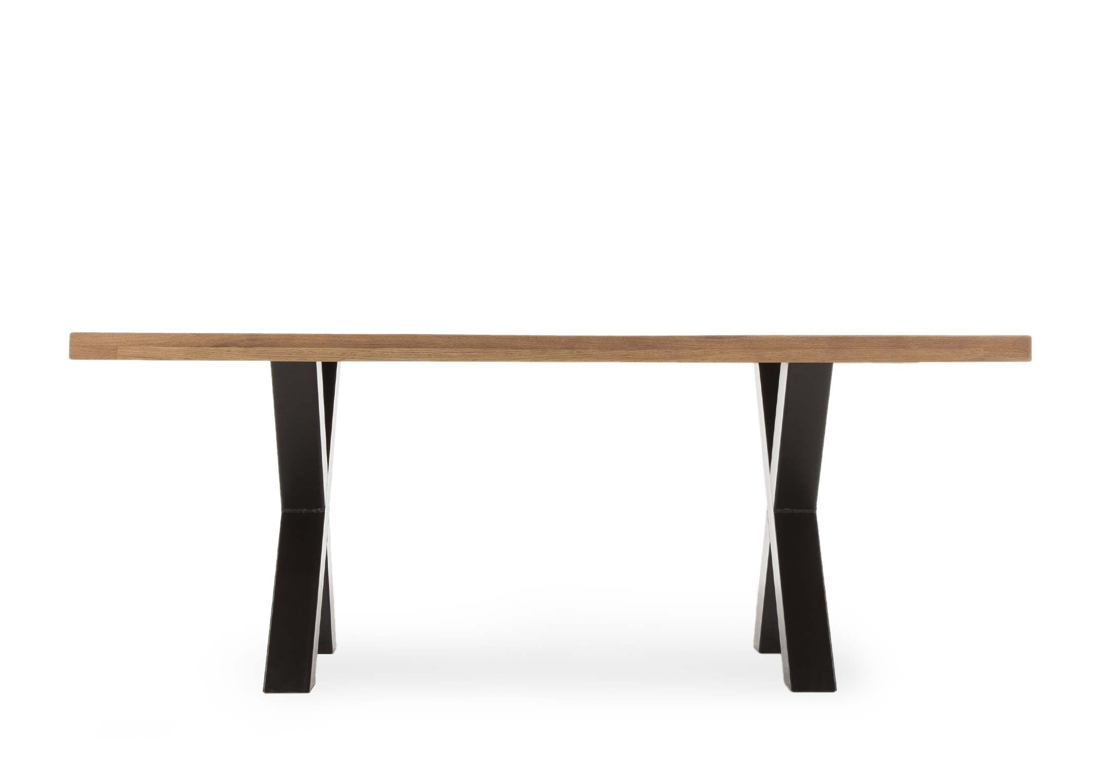 GENEVA LARGE DINING TABLE -L220cm x D100cm x H77cm. FRONT VIEW