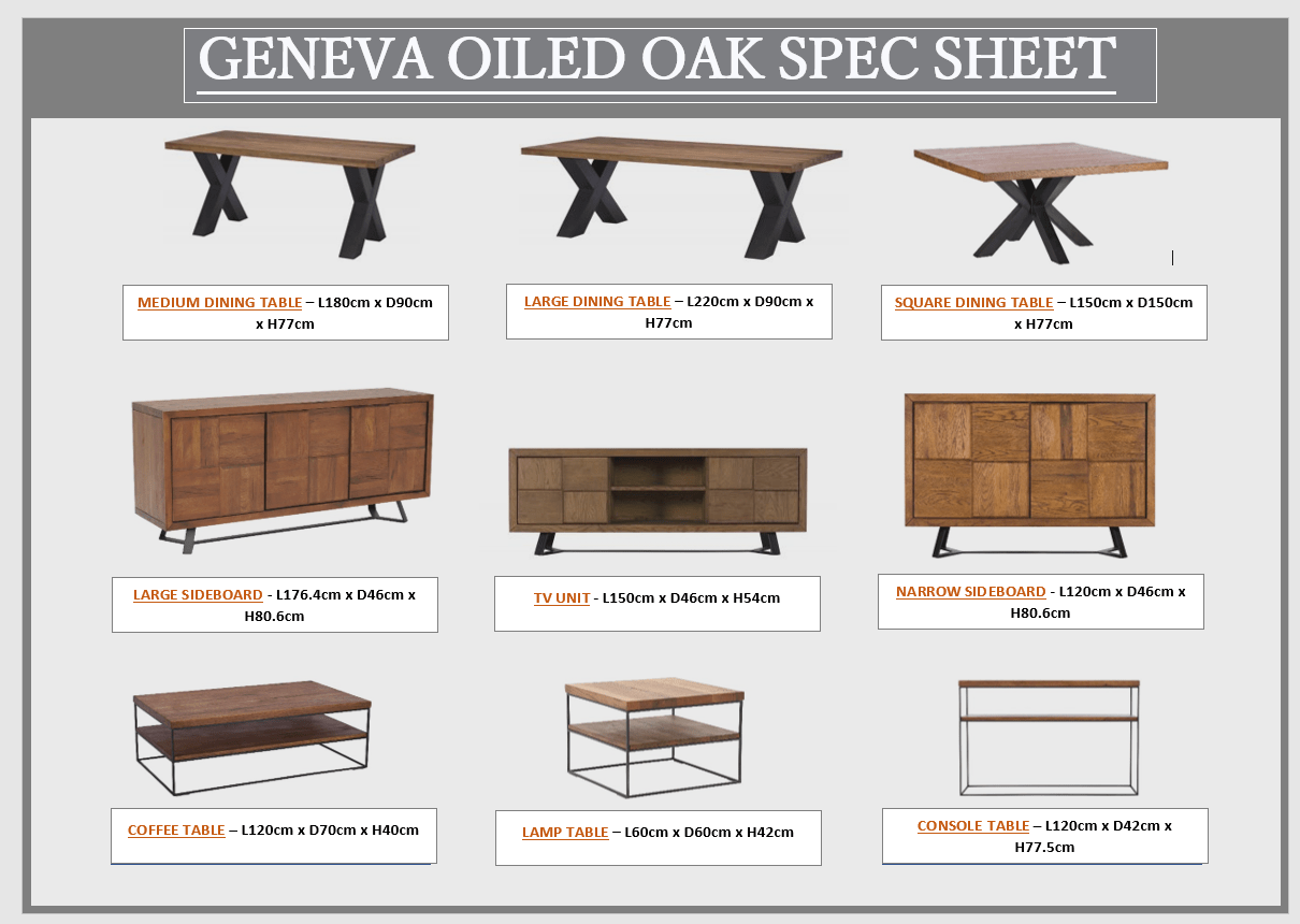 GENEVA SPEC SHEET