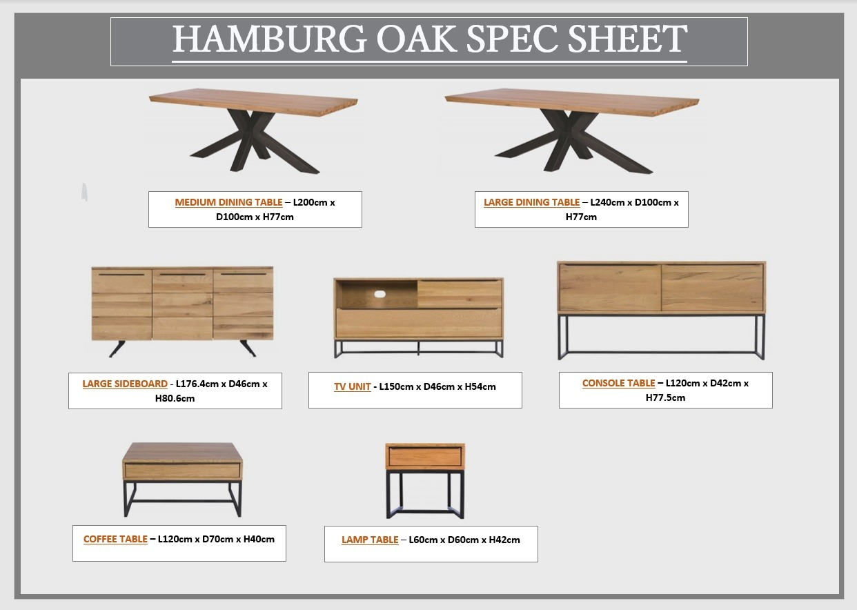 HAMBURG SPEC SHEET
