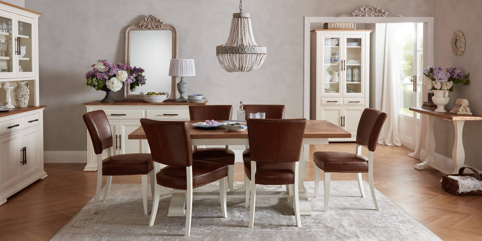 HIGHLAND DINING SET - CLOSED L190cm EXTENDED TO L240cm