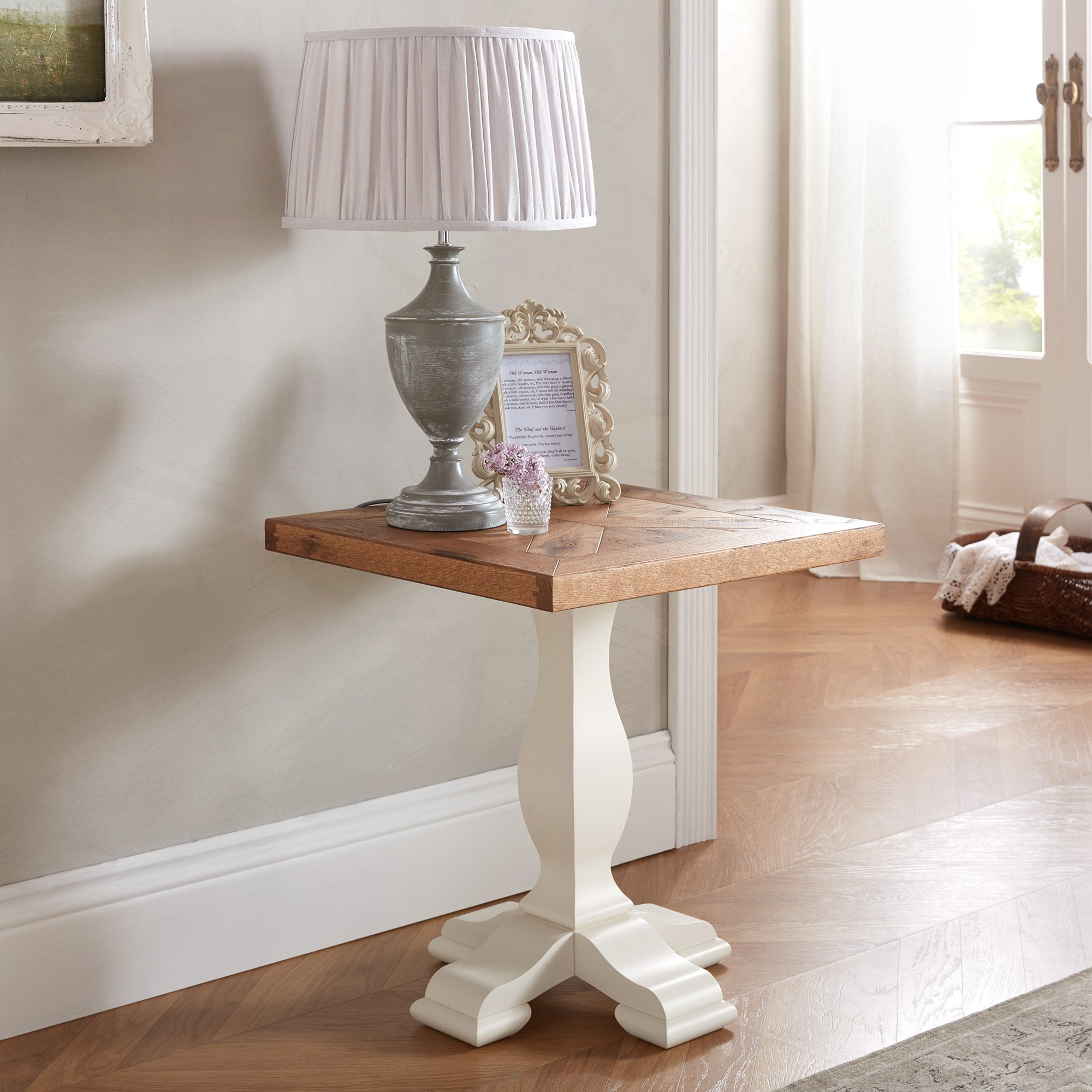 HIGHLAND LAMP TABLE - L51cm x D51cm x H56cm