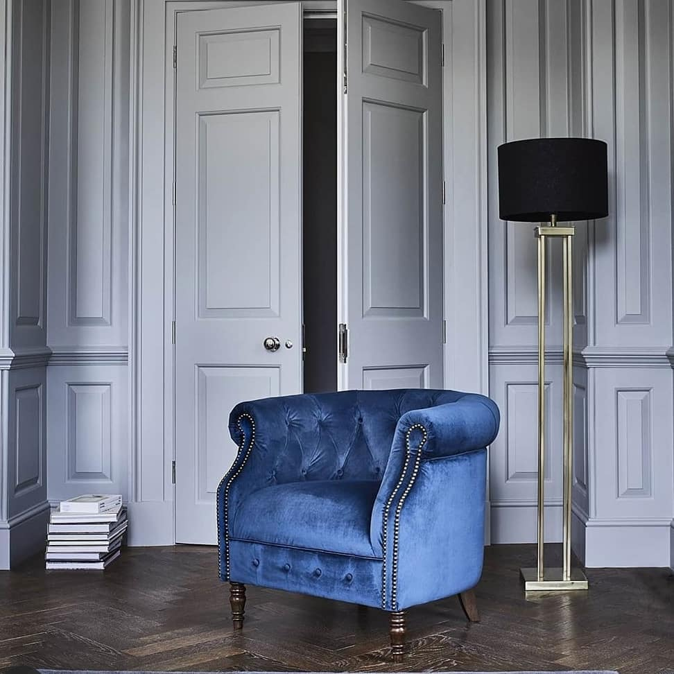 JUDE CHAIR IN NAVY VELVET