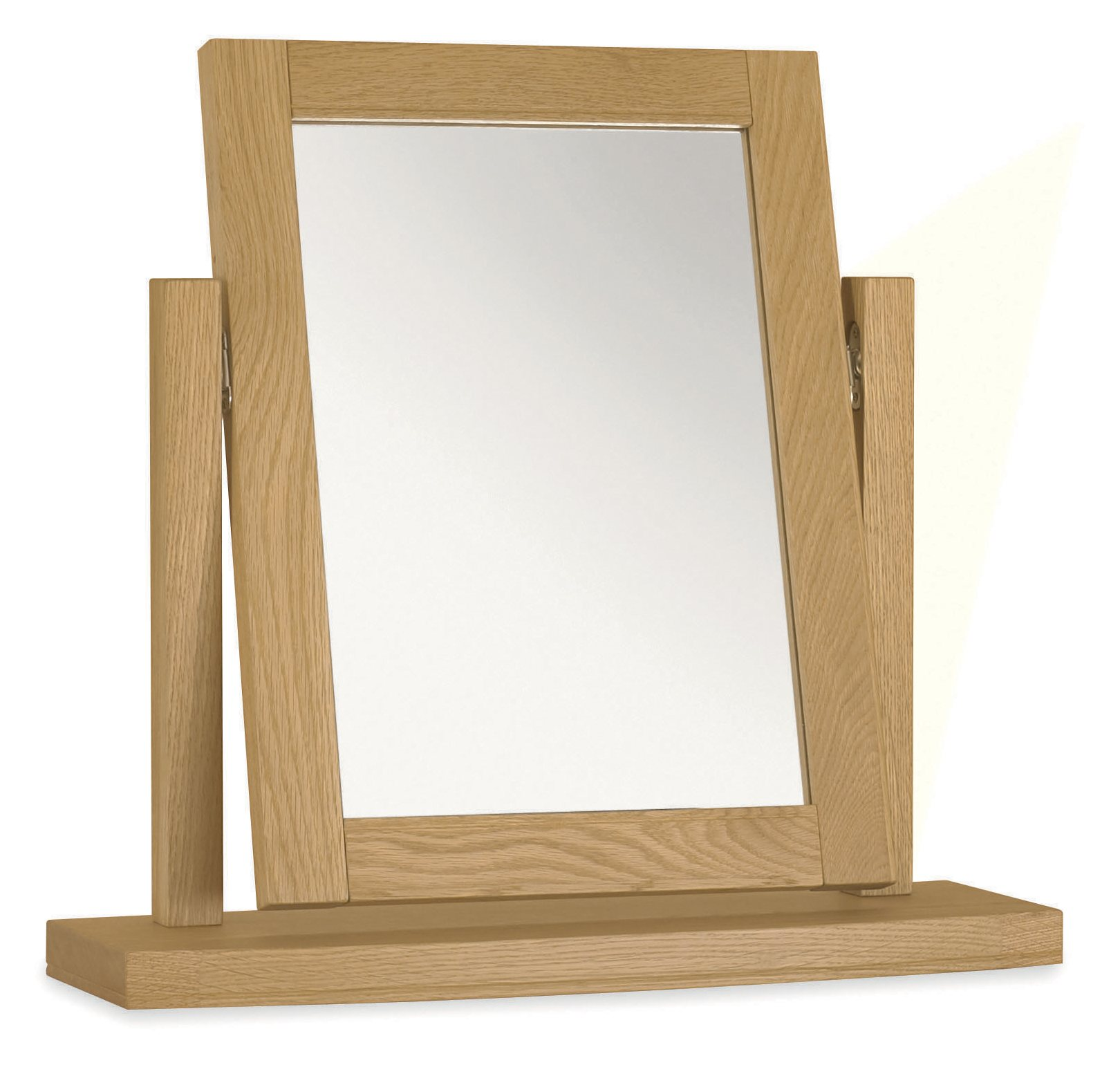 KYRA OAK BEDROOM MIRROR - L54cm x D18cm x H 52cm ANGLE VIEW