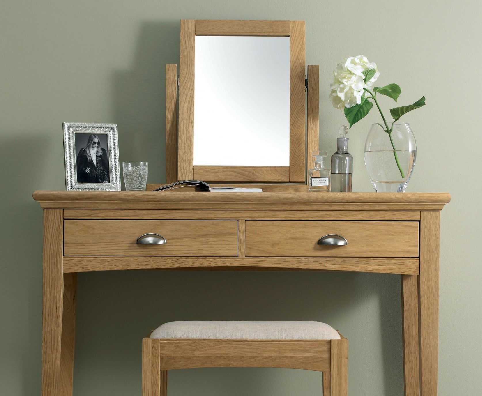 KYRA OAK BEDROOM MIRROR - L54cm x D18cm x H 52cm
