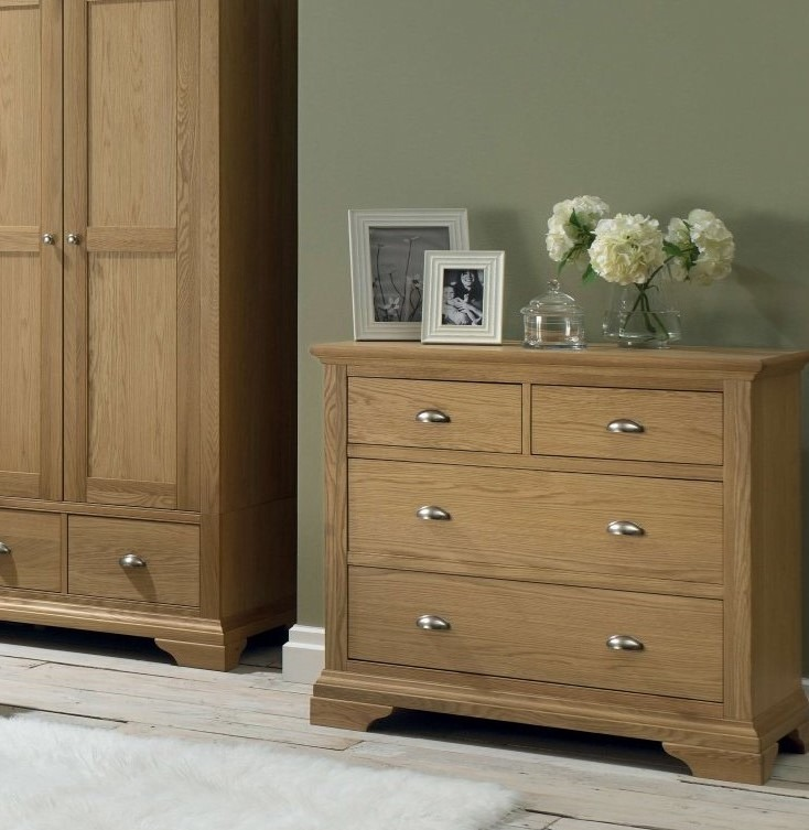 KYRA OAK CHEST - L99cm x D48cm x H90cm