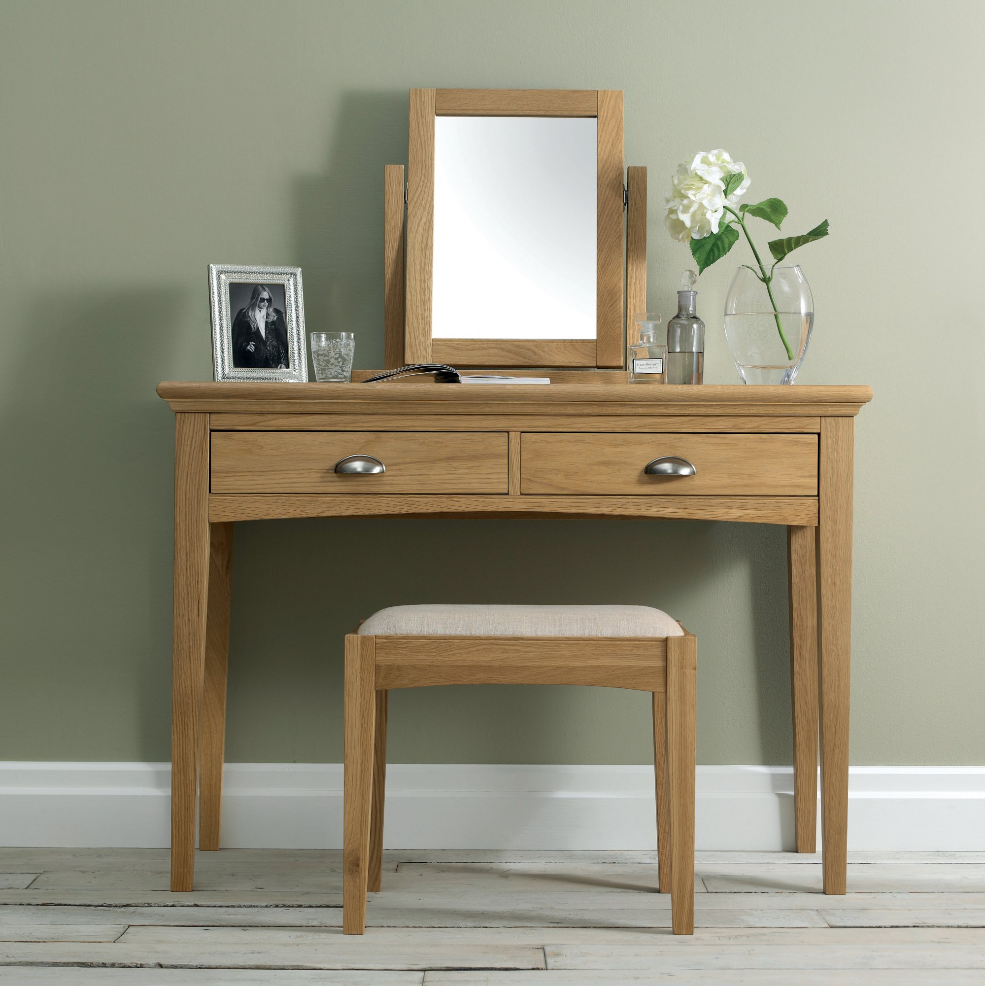 KYRA OAK DRESSING TABLE - L110cm x D48cm x H79cm