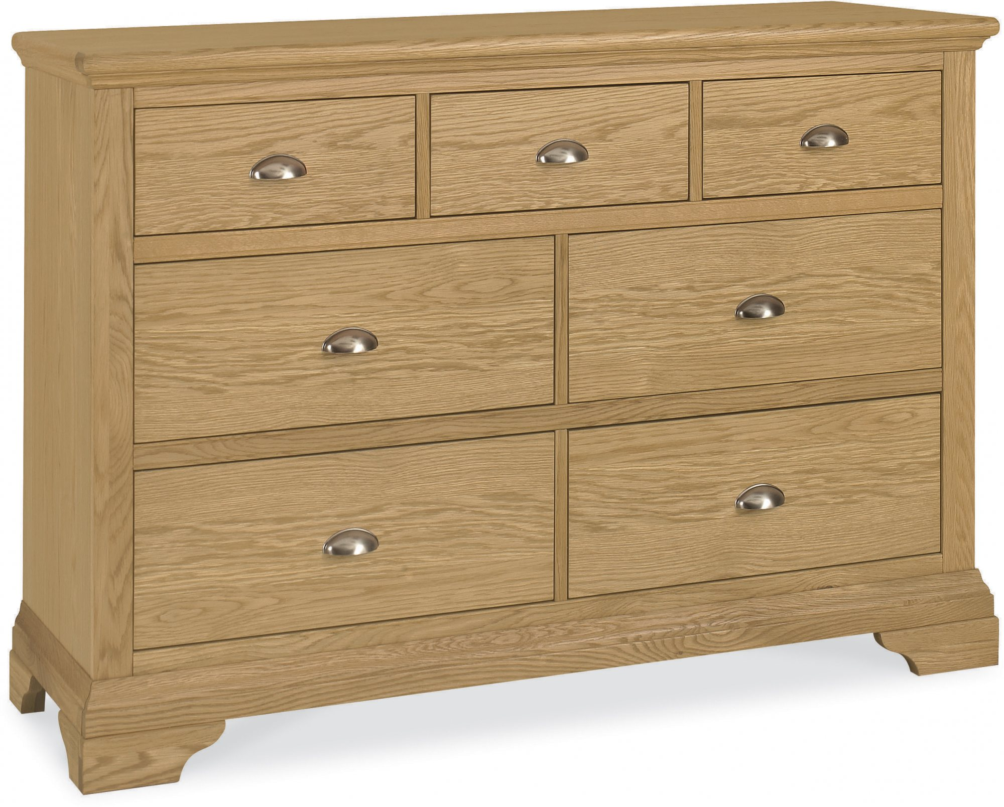 KYRA OAK WIDE CHEST - L138cm x D48cm x H90cm